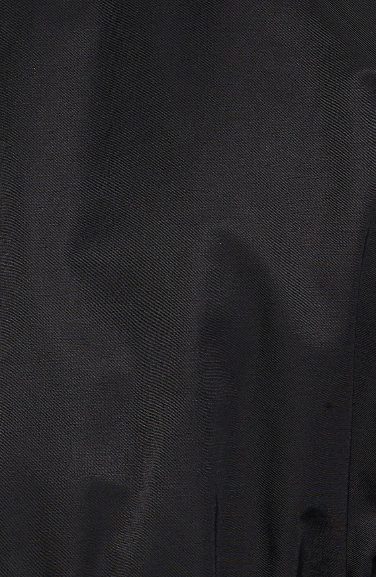 Alternate Image 5  - Halogen® Ruffle Zip Jacket (Regular & Petite)