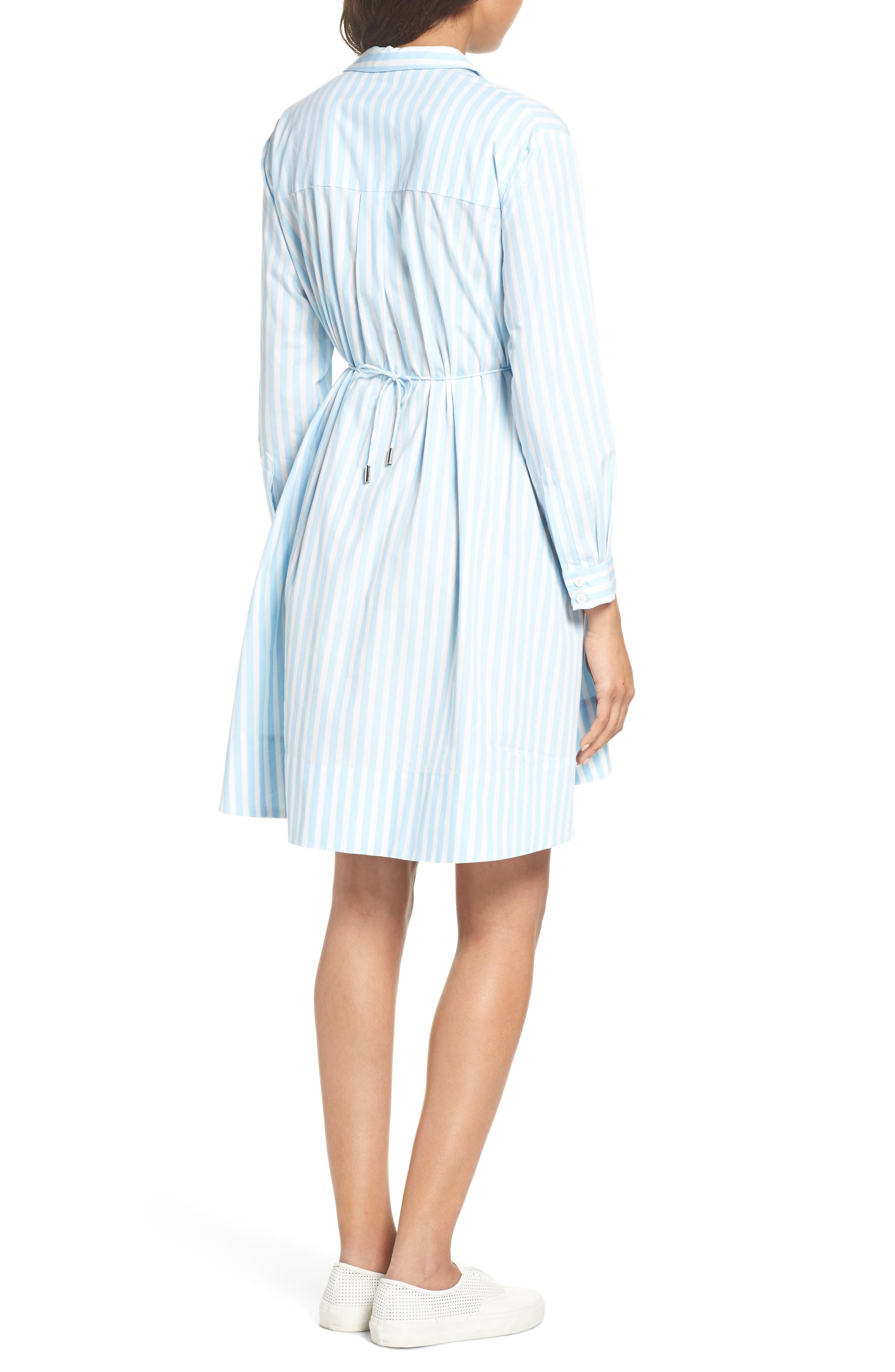 Smithson Stripe Shirtdress,                             Alternate thumbnail 2, color,                             Dream Blue