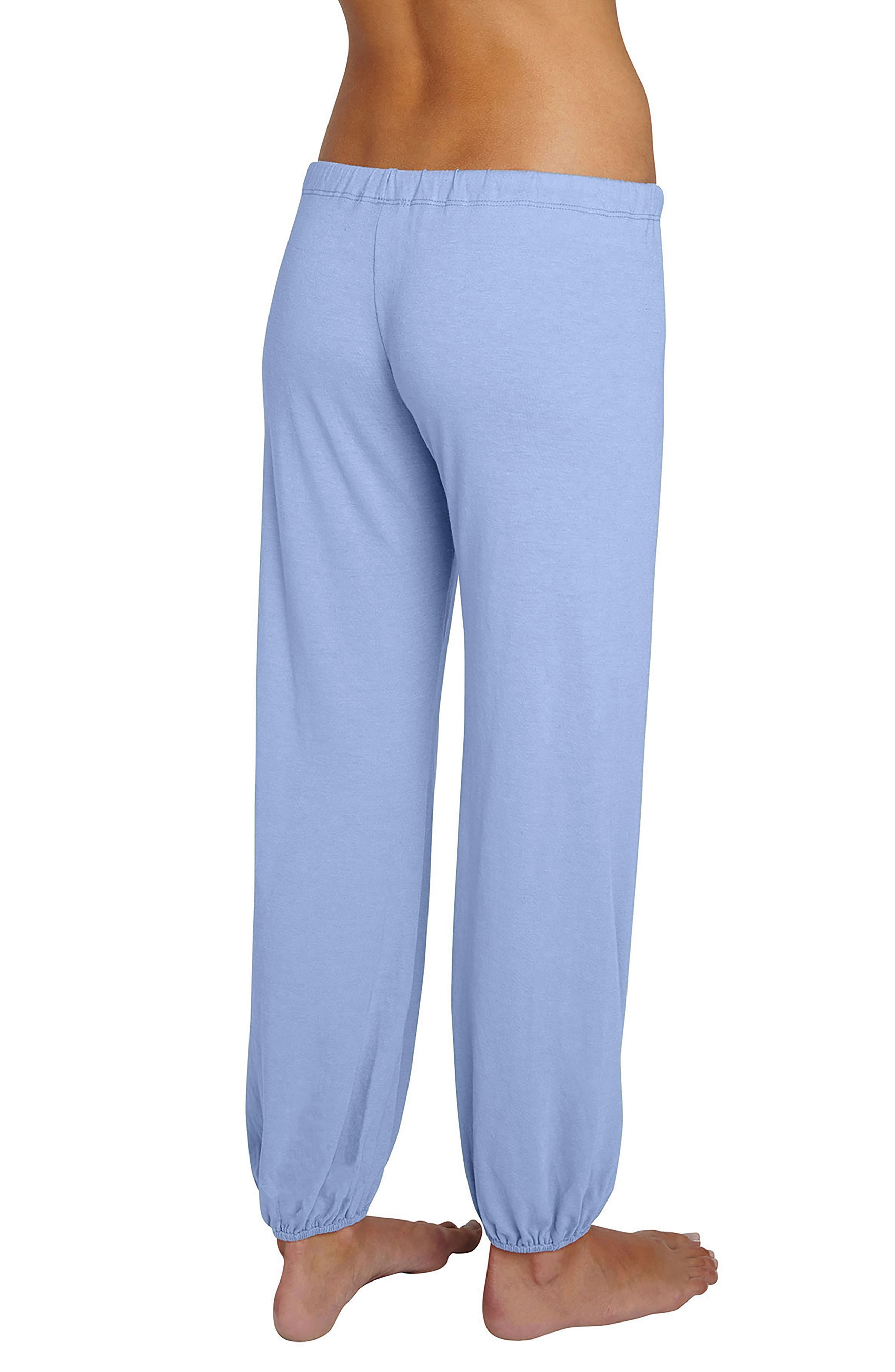 Crop Knit Lounge Pants,                             Alternate thumbnail 2, color,                             Chambray