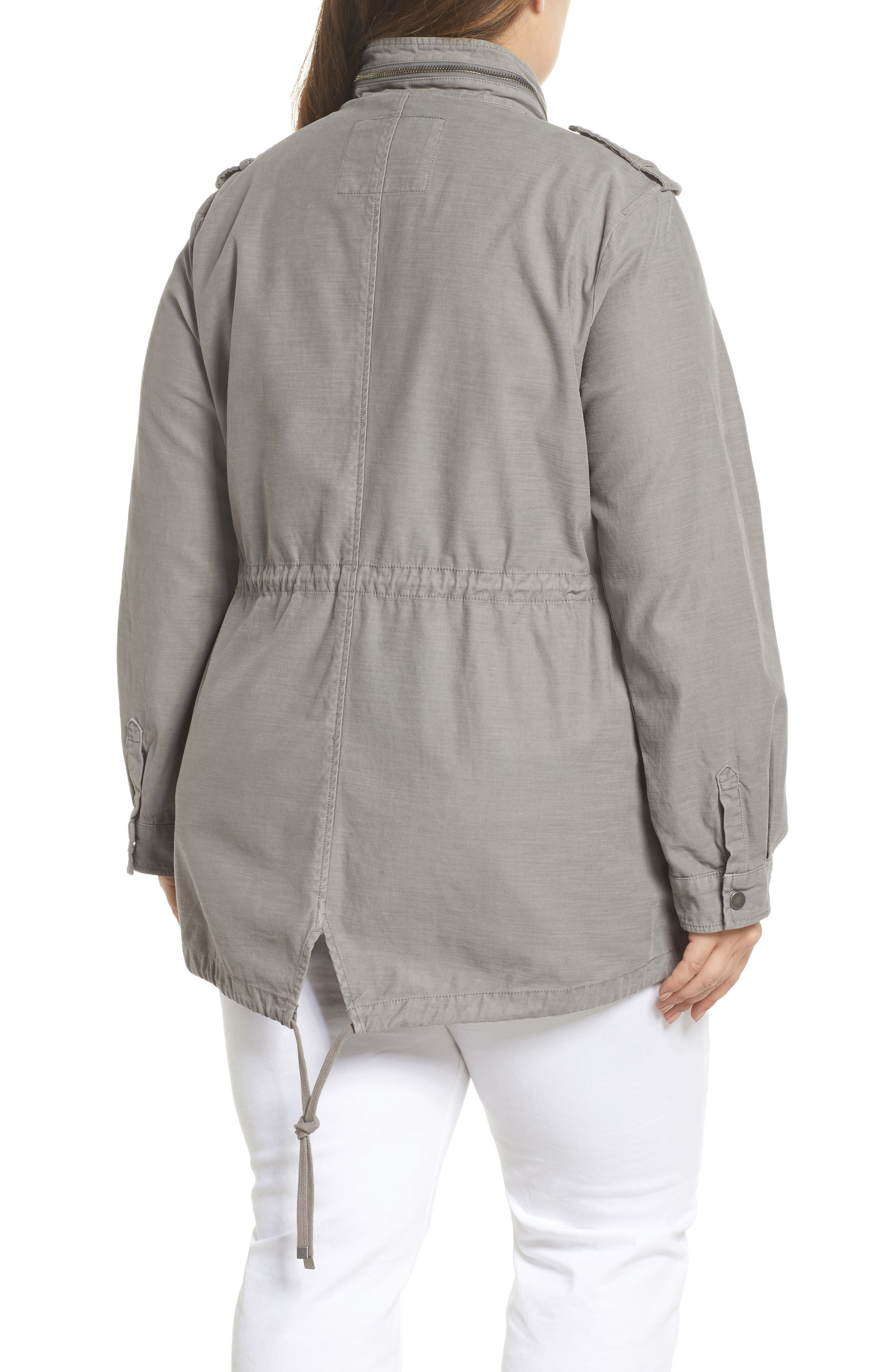 Cotton Fishtail Field Jacket,                             Alternate thumbnail 2, color,                             Grey