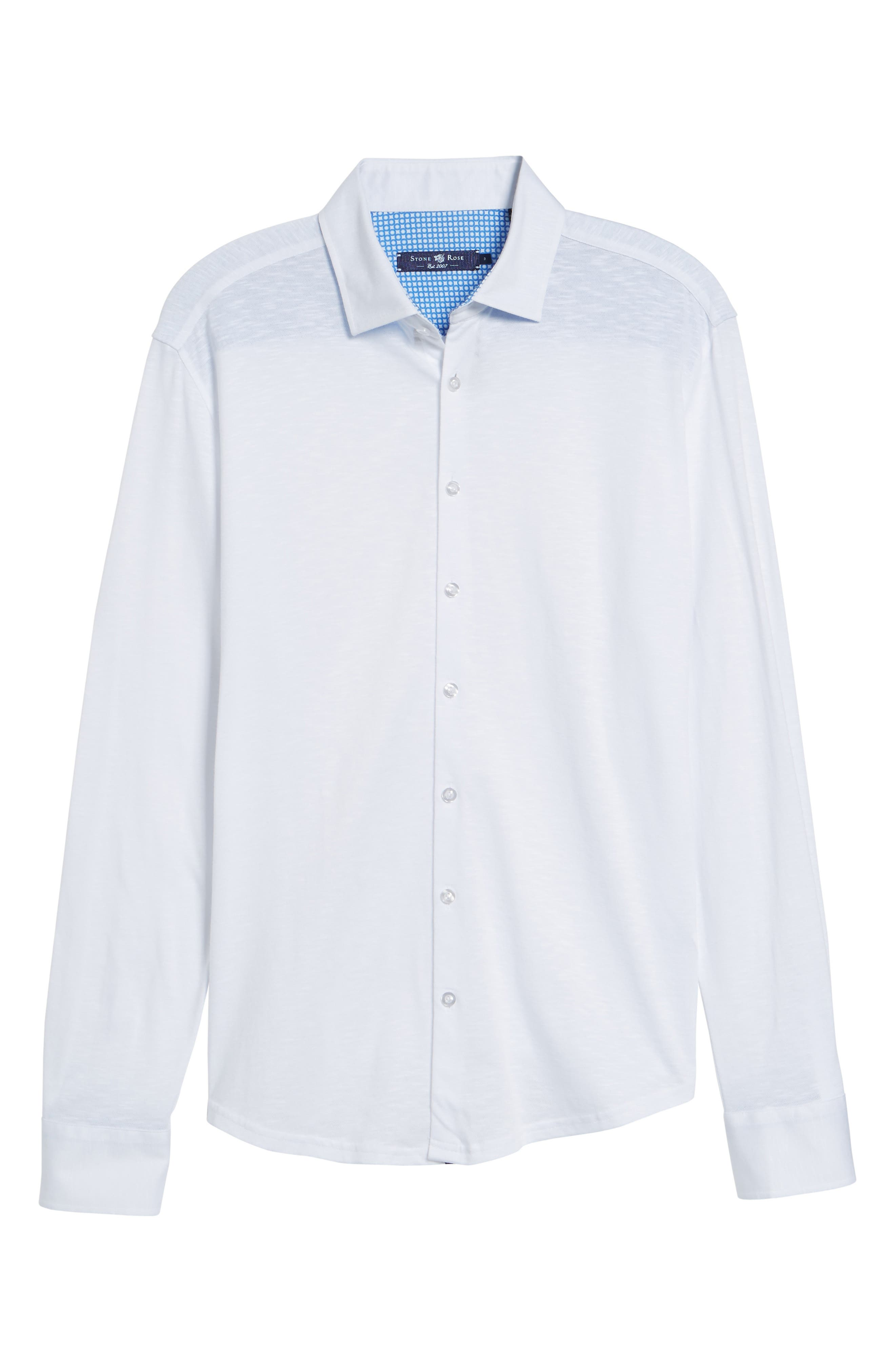 Flame Contemporary Fit Sport Shirt,                             Alternate thumbnail 6, color,                             White