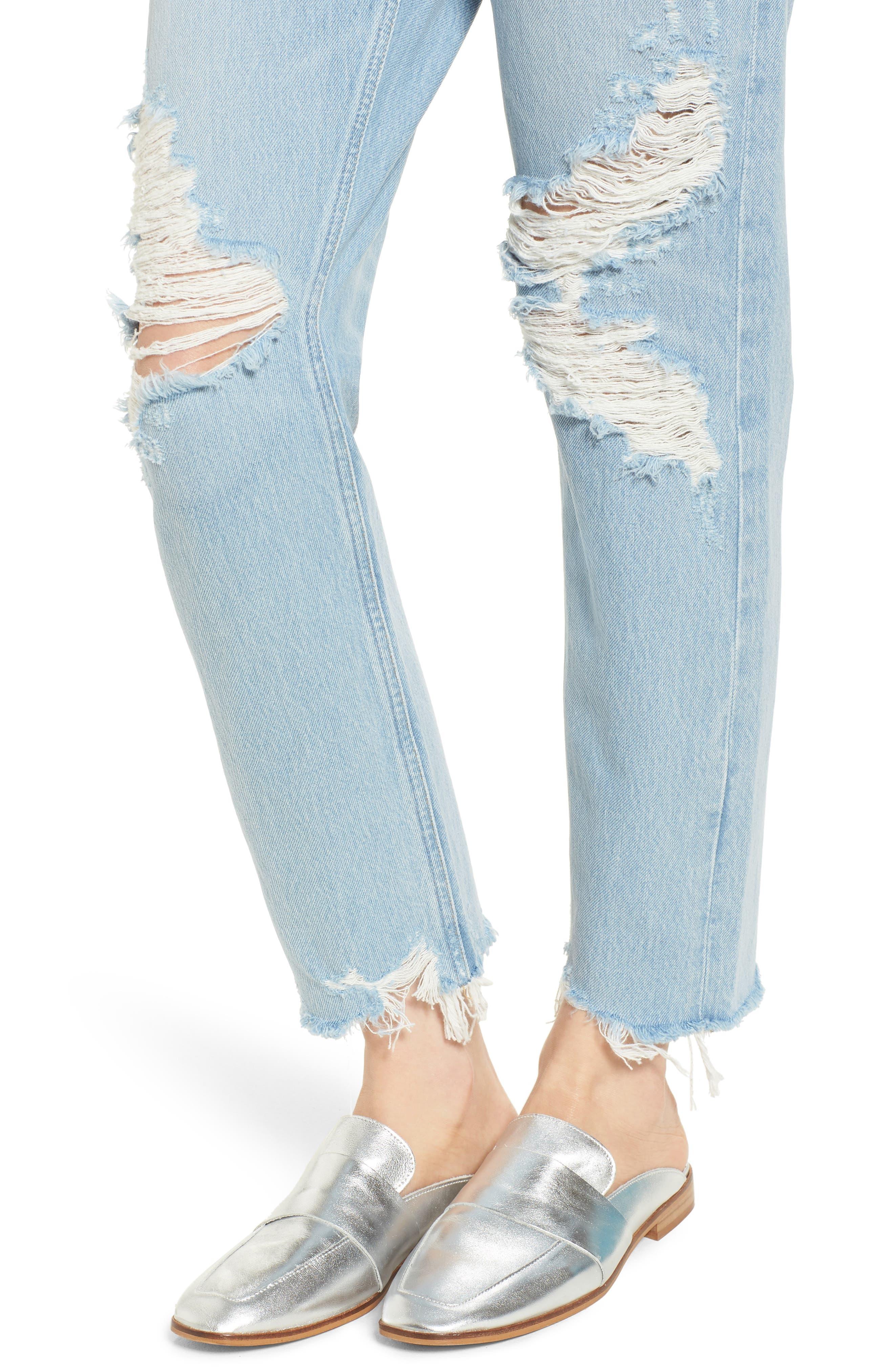 Jamie High Waist Ankle Jeans,                             Alternate thumbnail 4, color,                             Temper