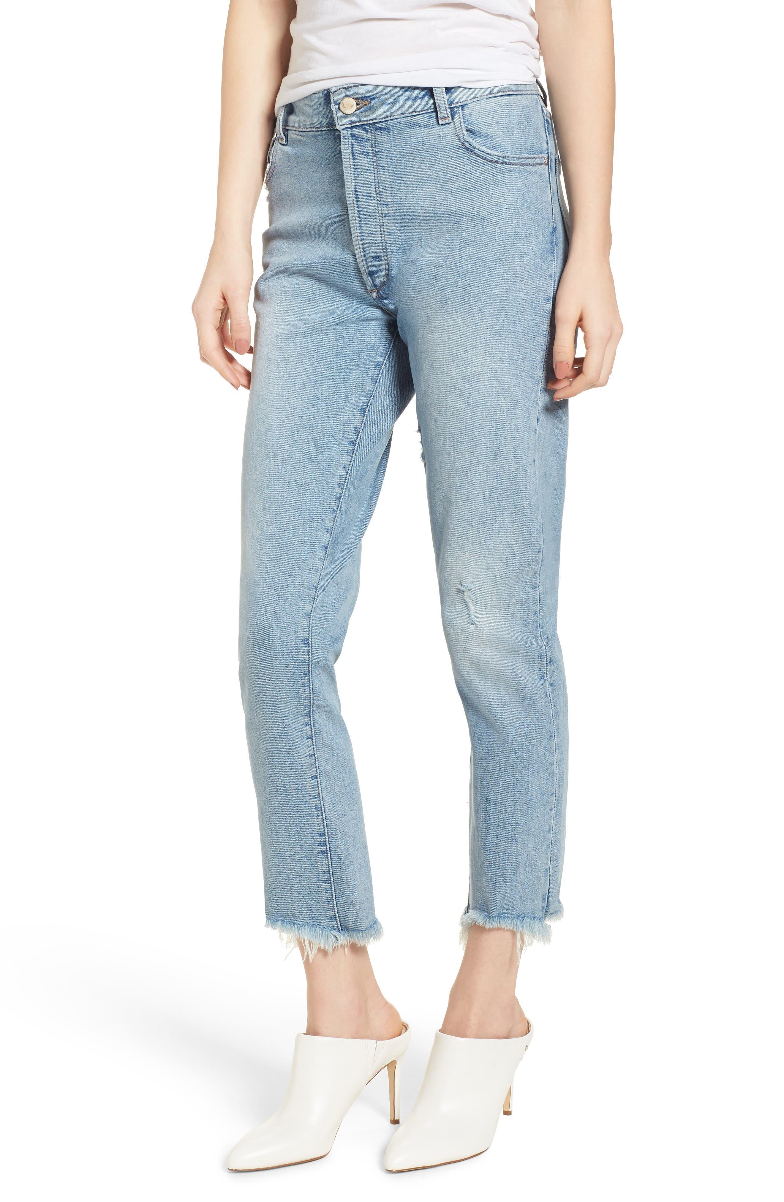Bella Vintage Crop Slim Jeans,                             Main thumbnail 1, color,                             Super Bleach