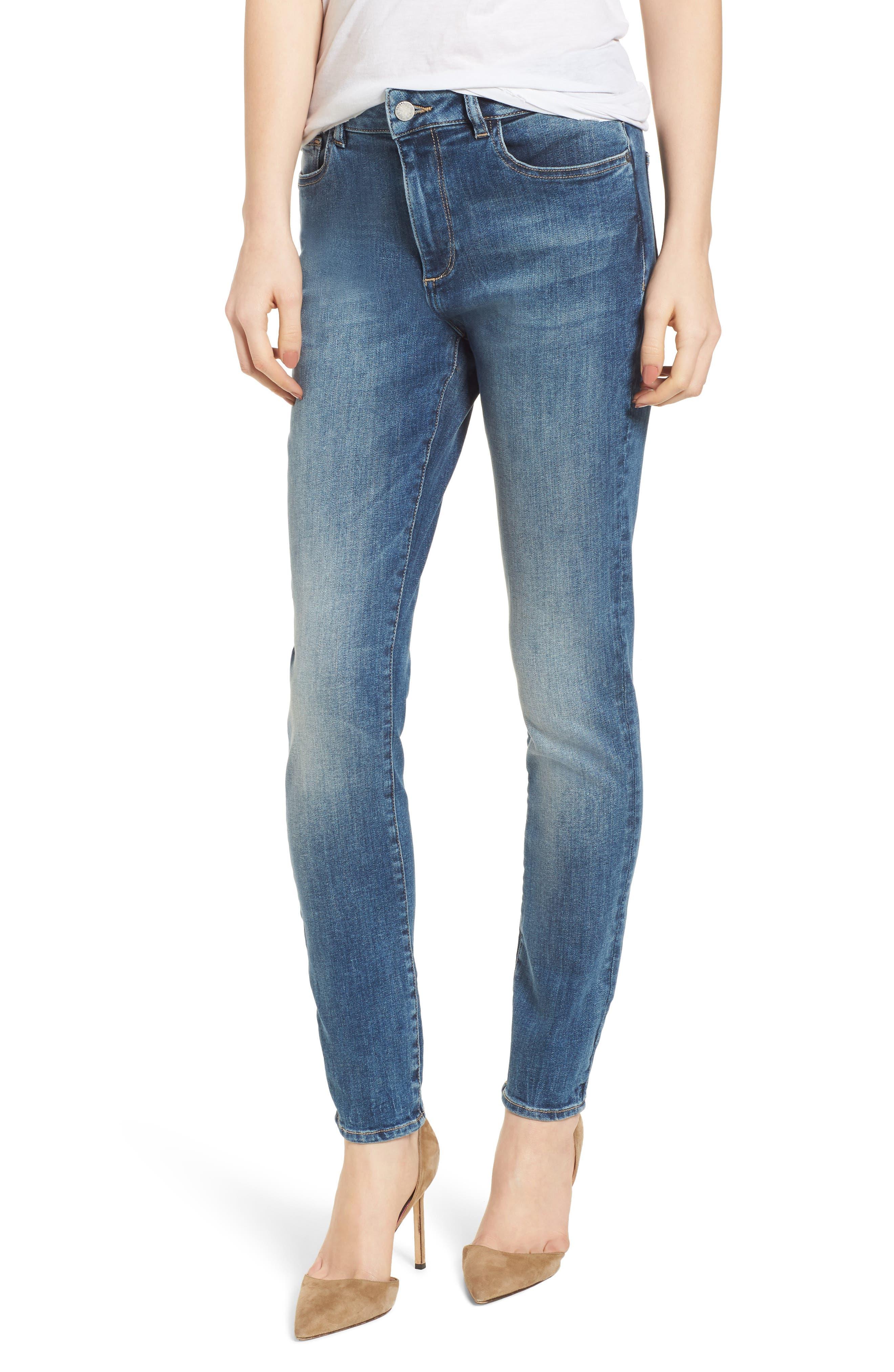 Farrow Instaslim High Waist Skinny Jeans,                             Main thumbnail 1, color,                             Wells