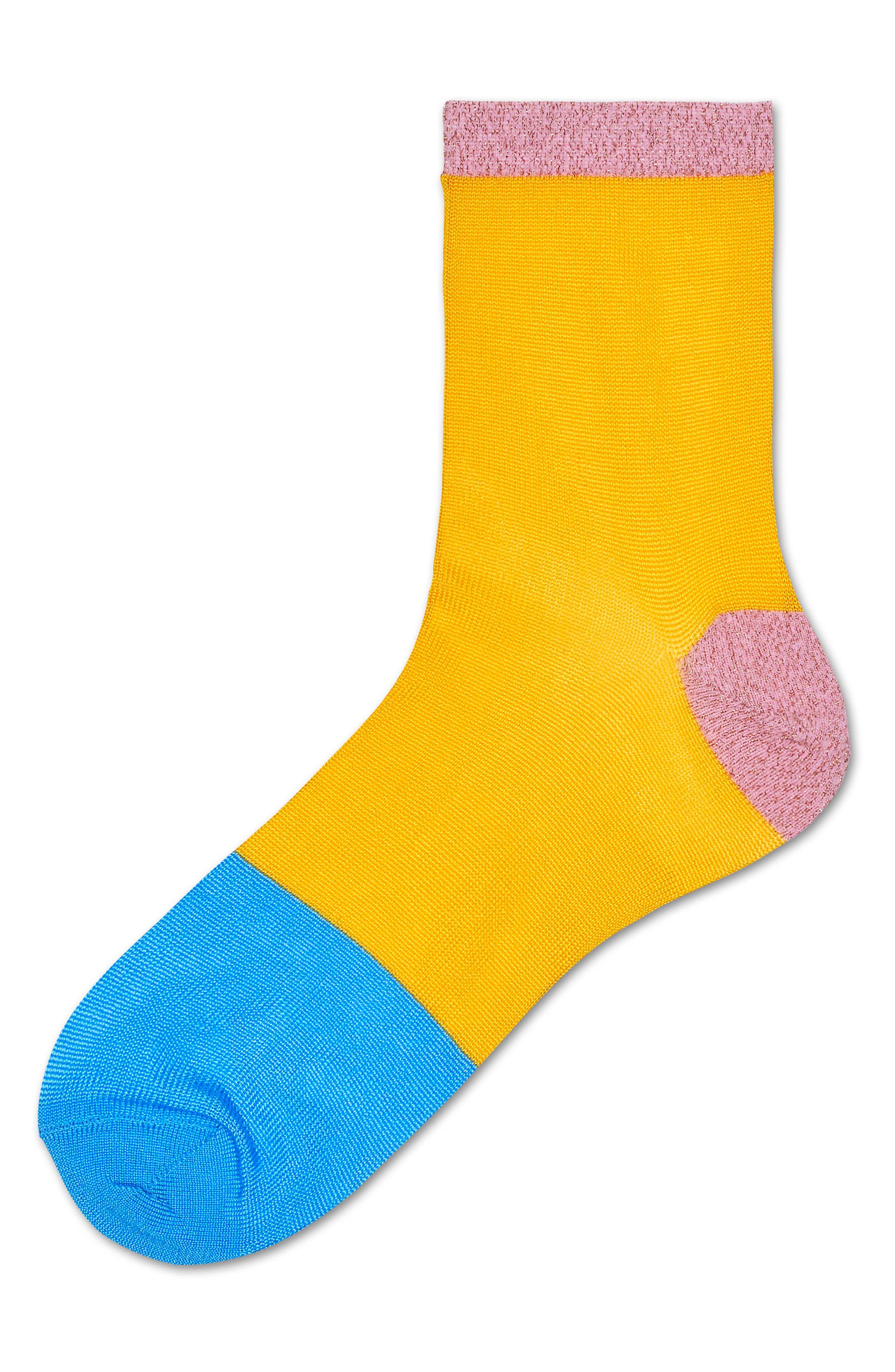 Liza Sparkle Ankle Socks,                             Alternate thumbnail 3, color,                             Yellow