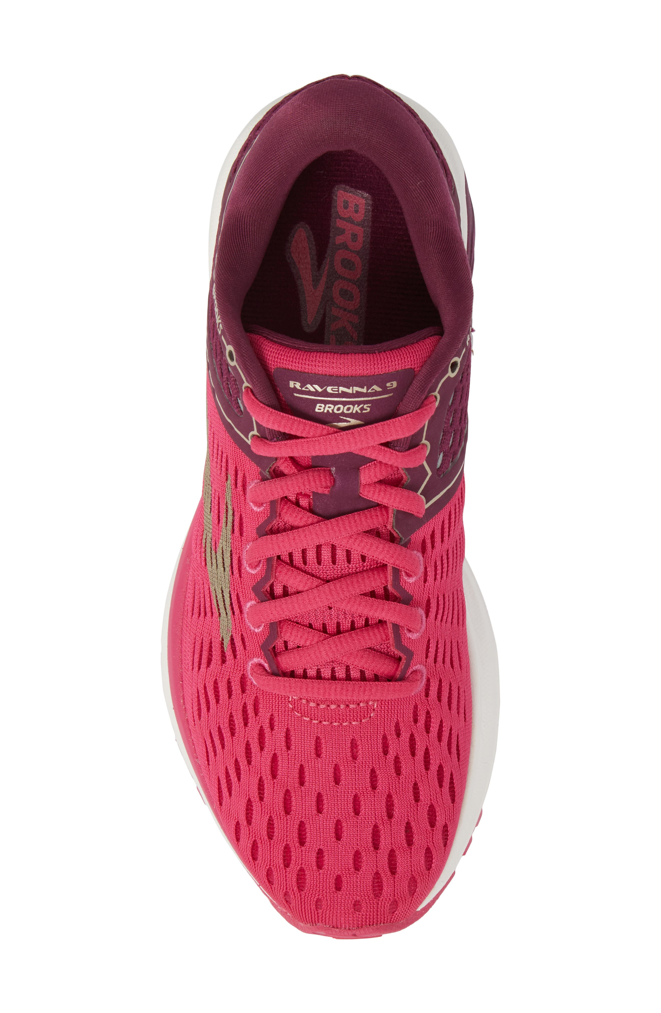 Ravenna 9 Running Shoe,                             Alternate thumbnail 5, color,                             Pink/ Plum/ Champagne