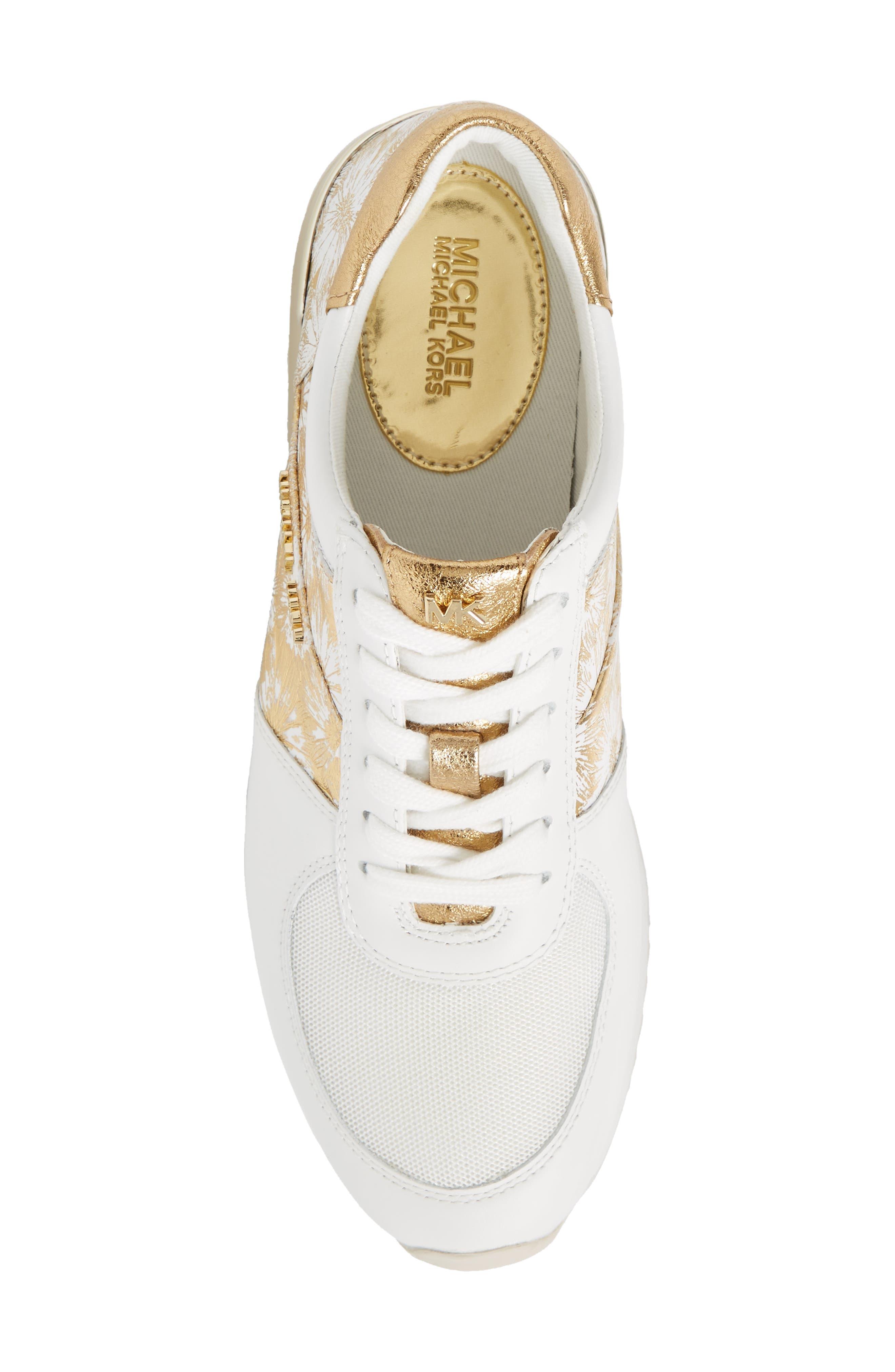 'Allie' Sneaker,                             Alternate thumbnail 5, color,                             Gold