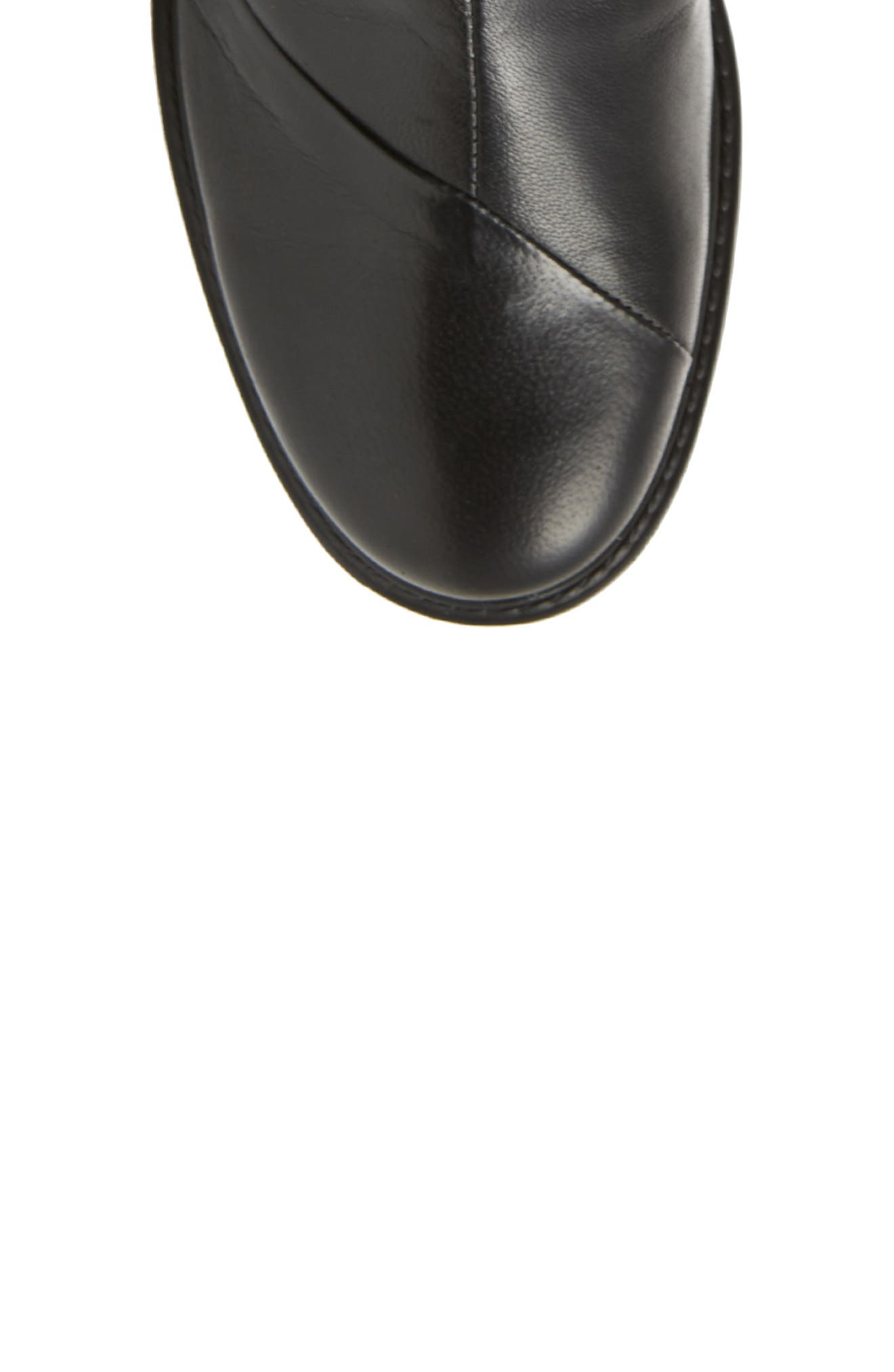Penny Bootie,                             Alternate thumbnail 5, color,                             Black Leather