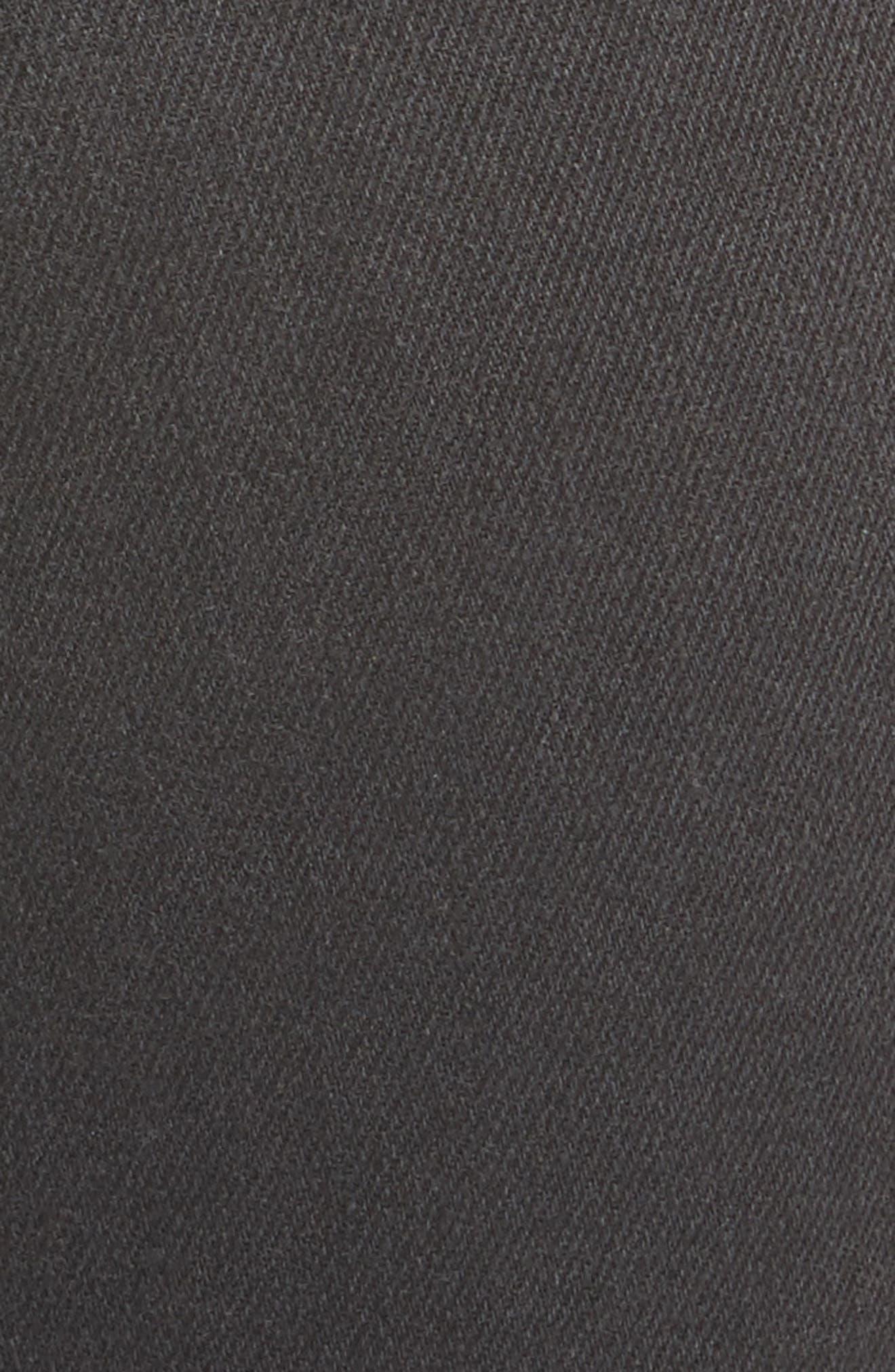 Audrina Ripped Straight Leg Jeans,                             Alternate thumbnail 6, color,                             Vintage Black Worn Destruct