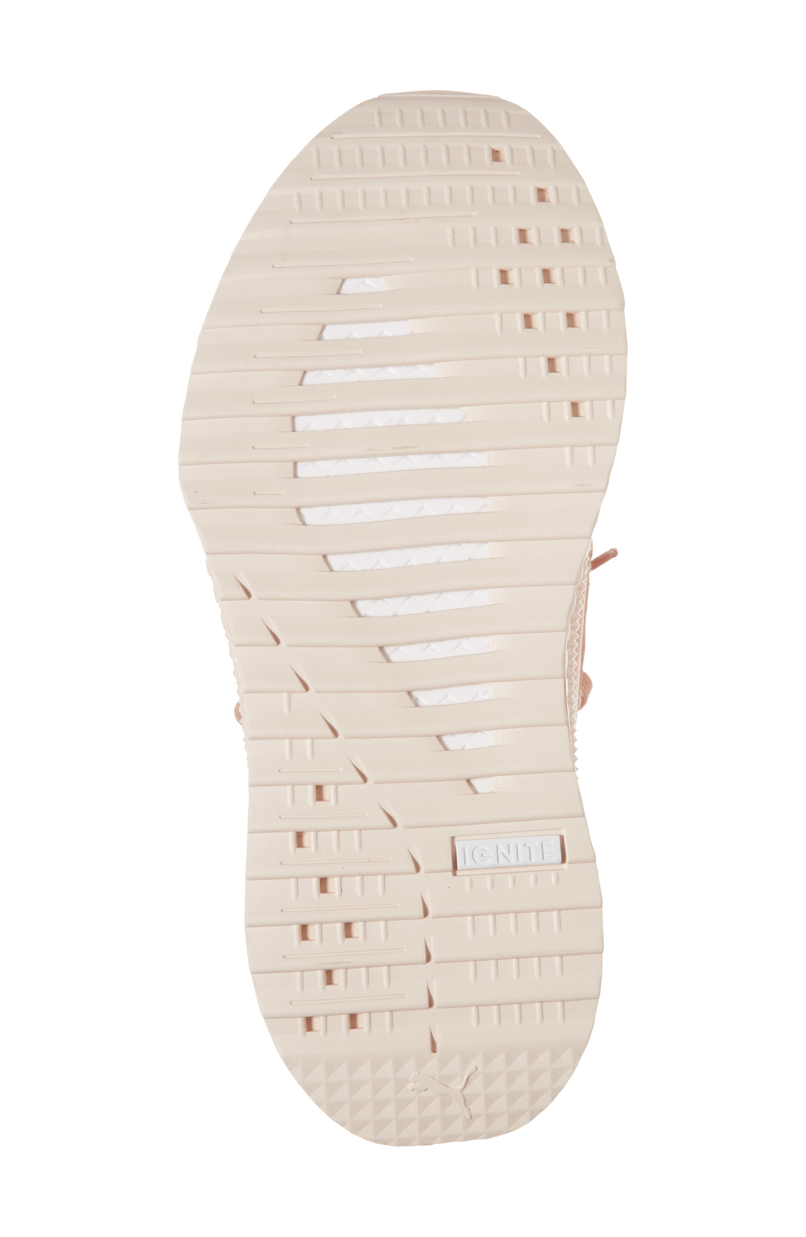 Tsugi Jun Knit Sneaker,                             Alternate thumbnail 6, color,                             Peach Beige/ Puma White/ Pearl
