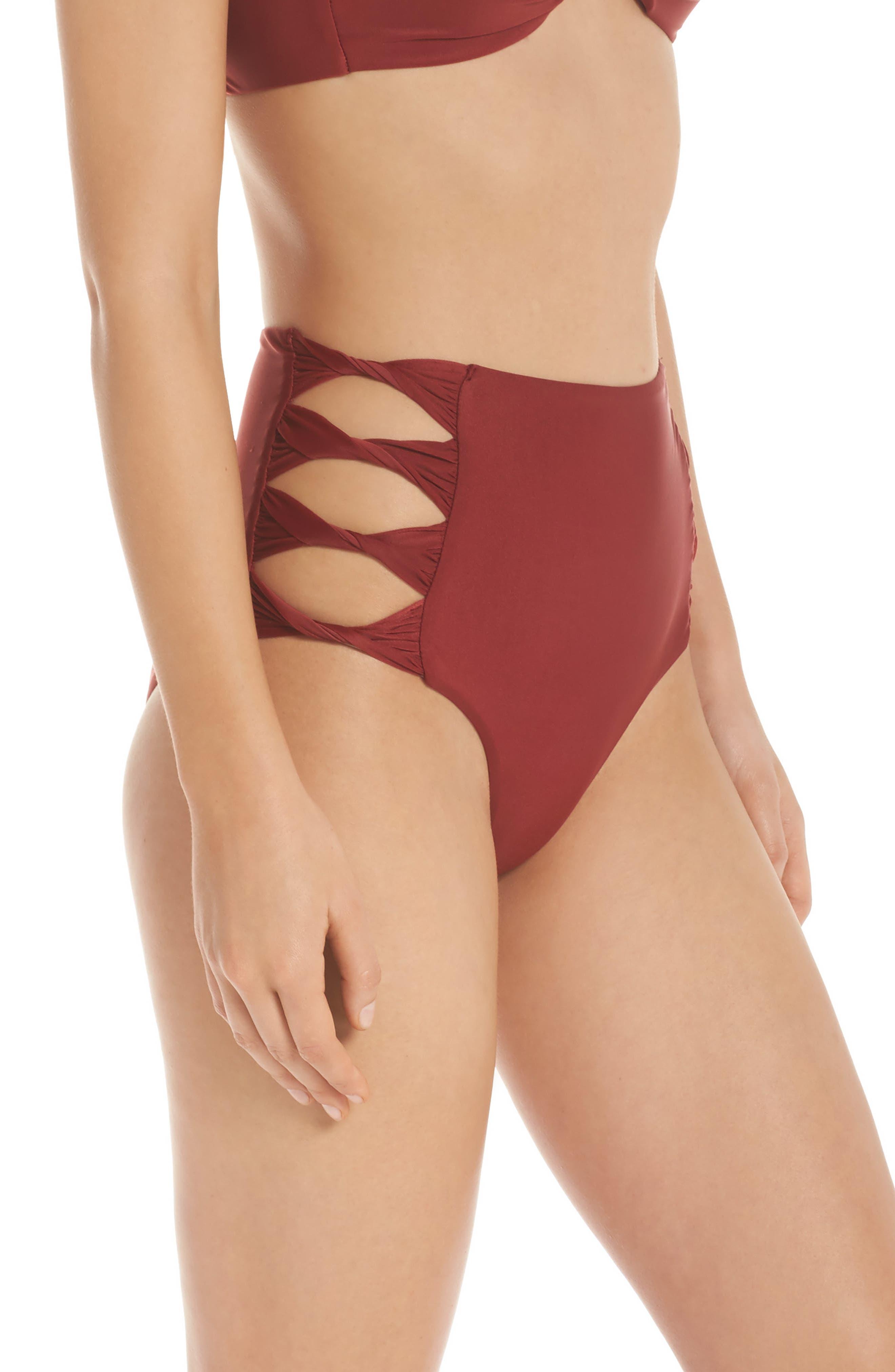 Alternate Image 3  - BCA Love Letters High Waist Bikini Bottoms