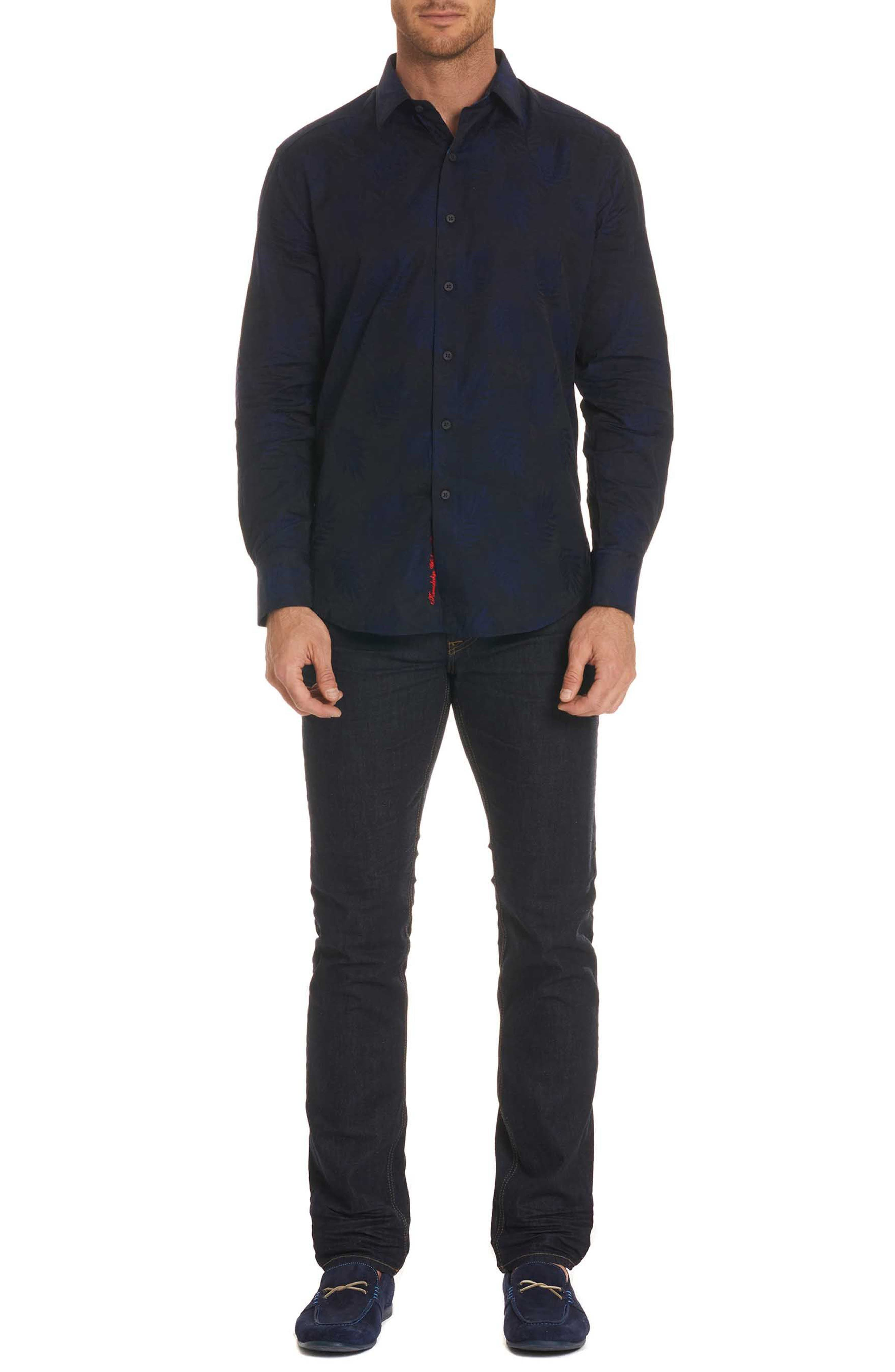 Monte Classic Fit Sport Shirt,                             Alternate thumbnail 7, color,                             Midnight Navy