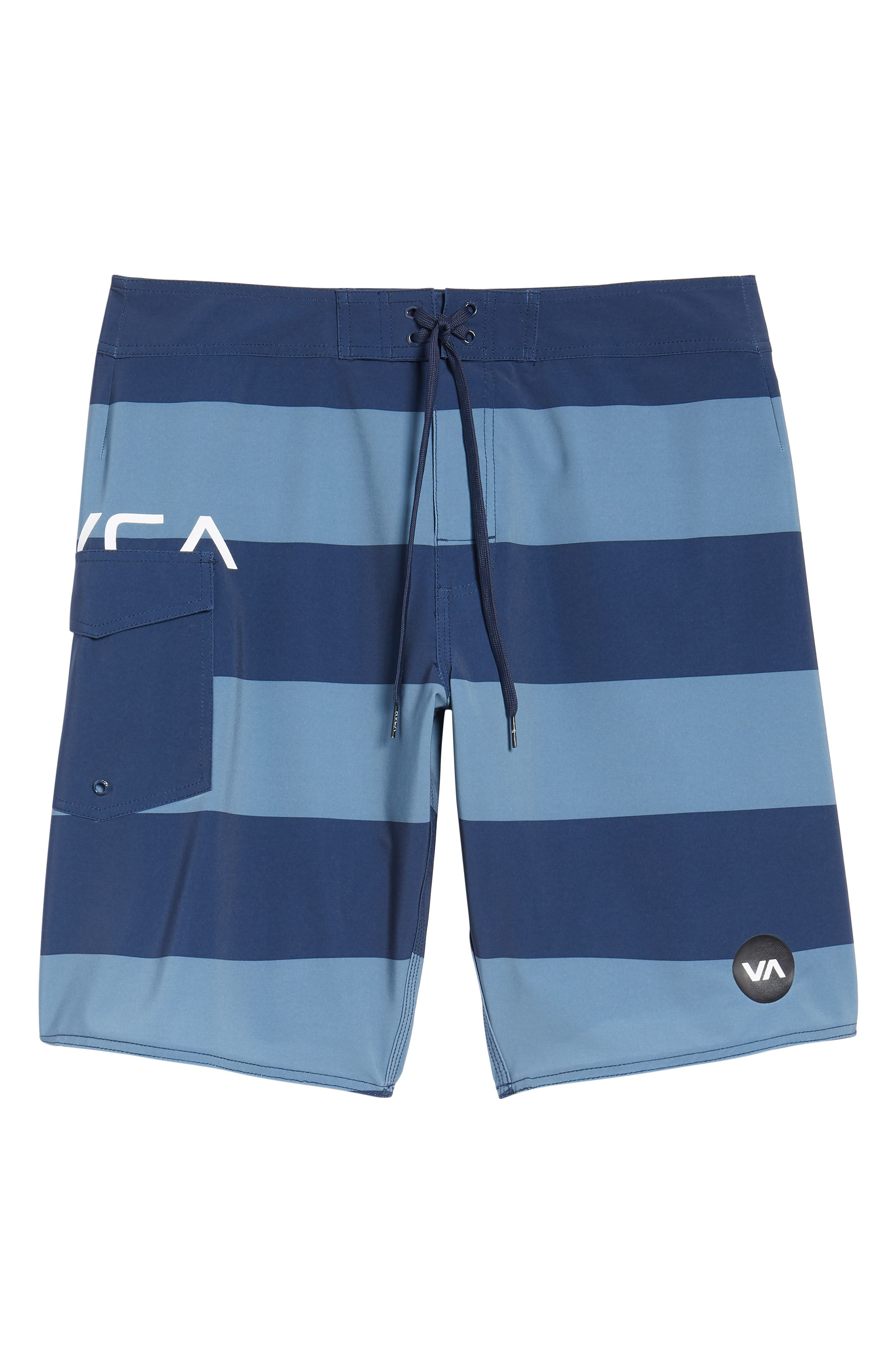Uncivil Stripe Board Shorts,                             Alternate thumbnail 6, color,                             Classic Indigo