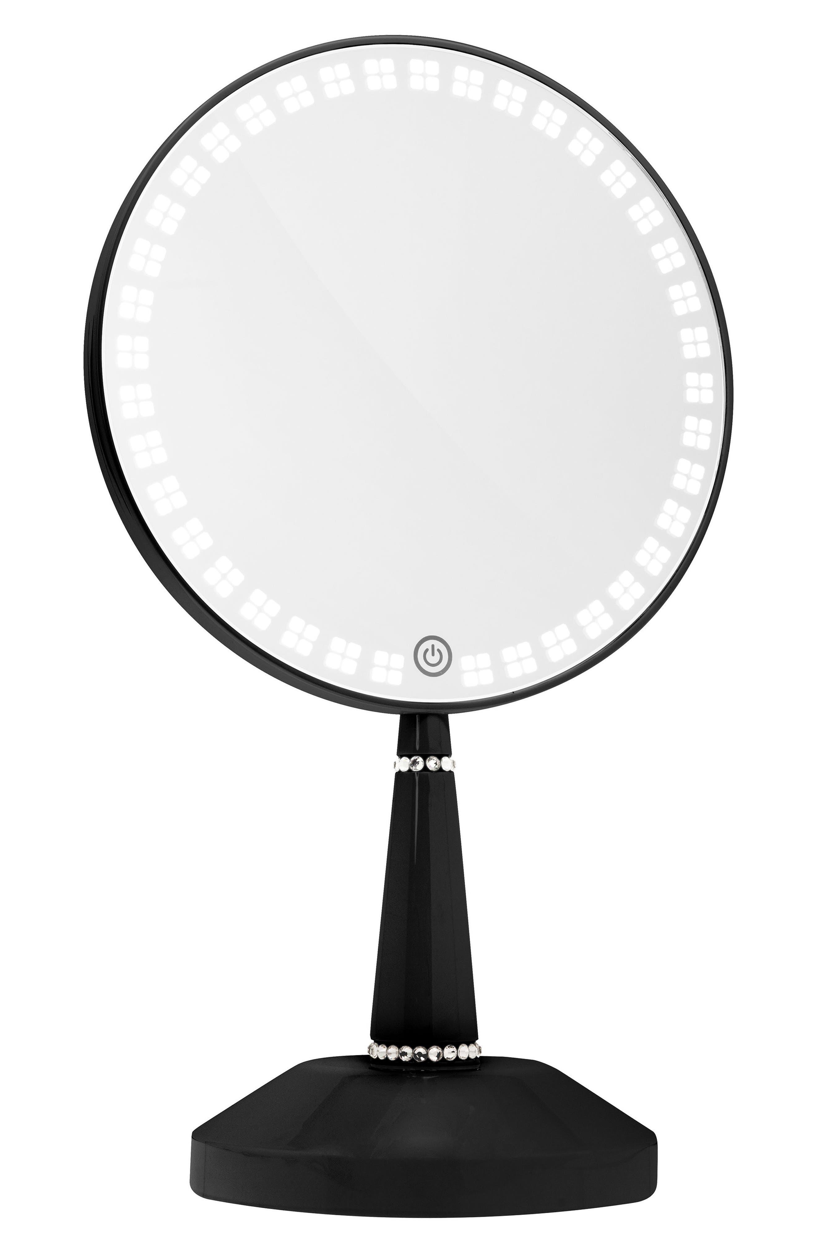 Bijou LED Hand Mirror,                         Main,                         color, Black
