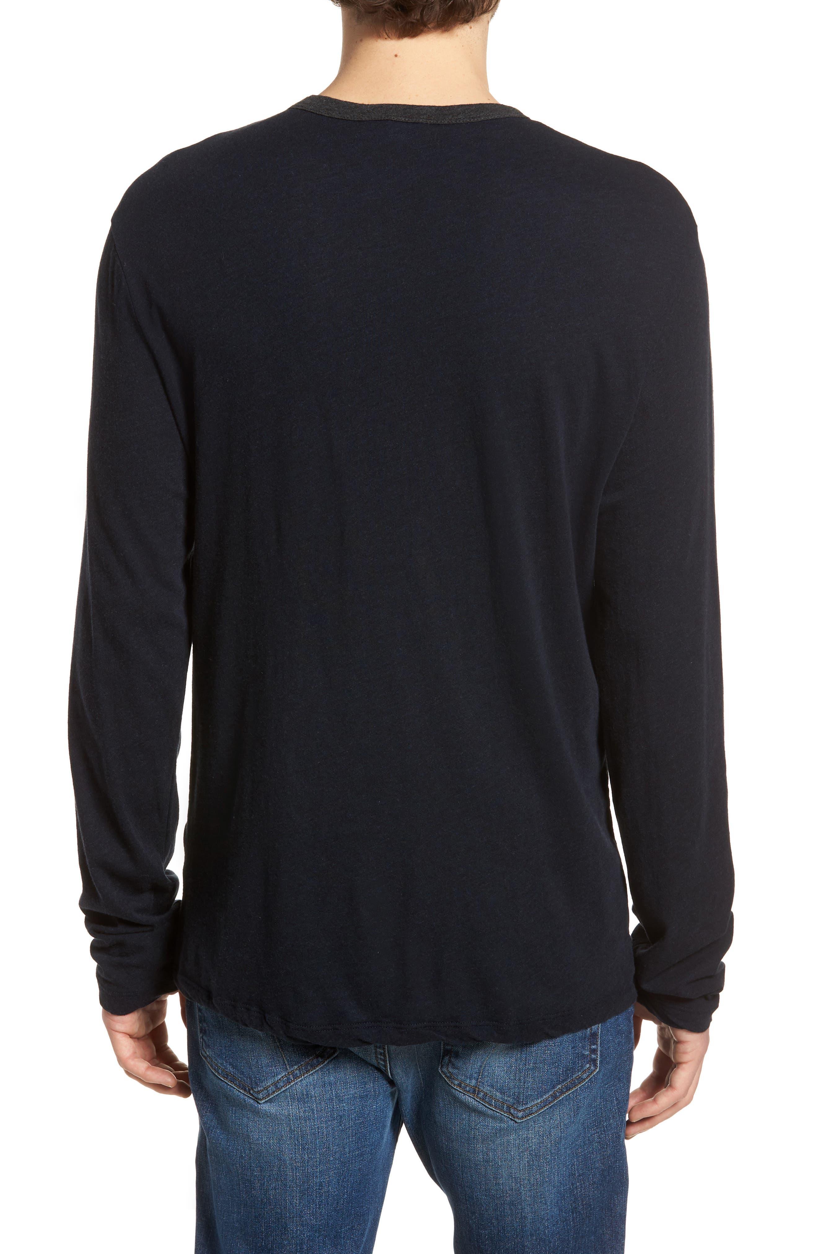 Contrast Pocket Long Sleeve T-Shirt,                             Alternate thumbnail 2, color,                             Deep/ Anthracite