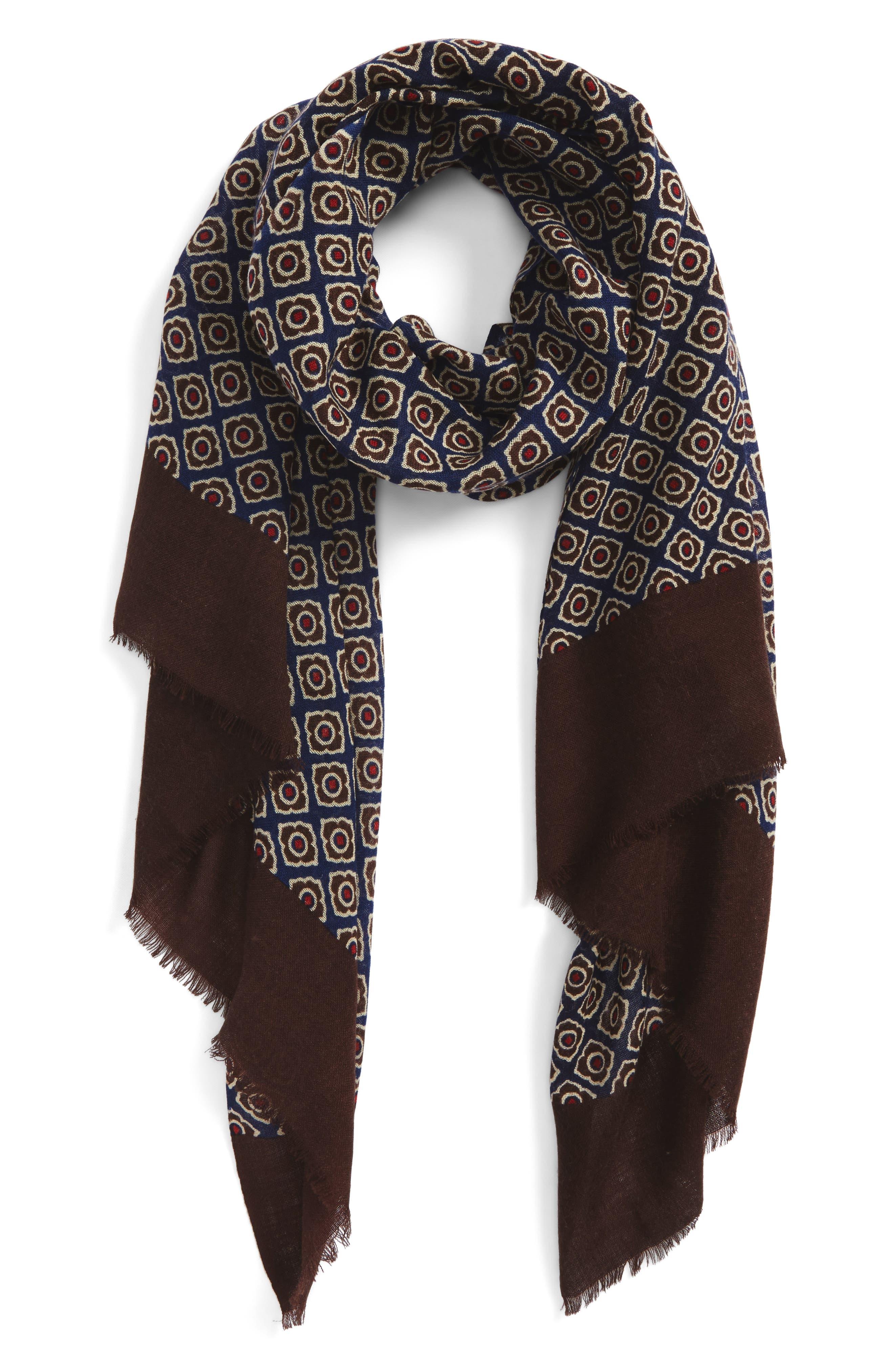 Main Image - Calibrate Floral Wool Scarf