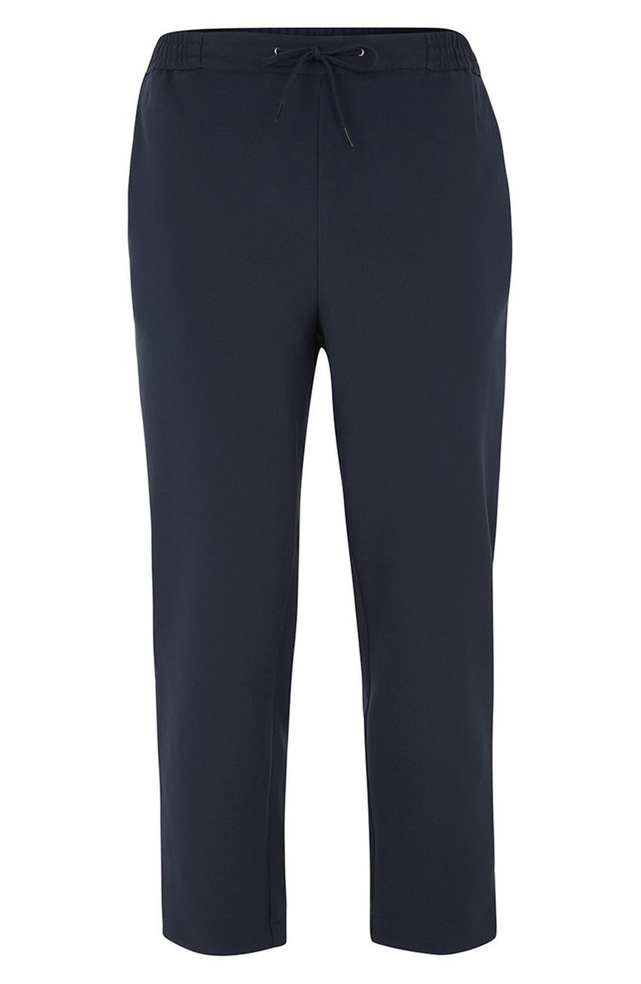 Topman Cropped Slim Fit Jogger Pants