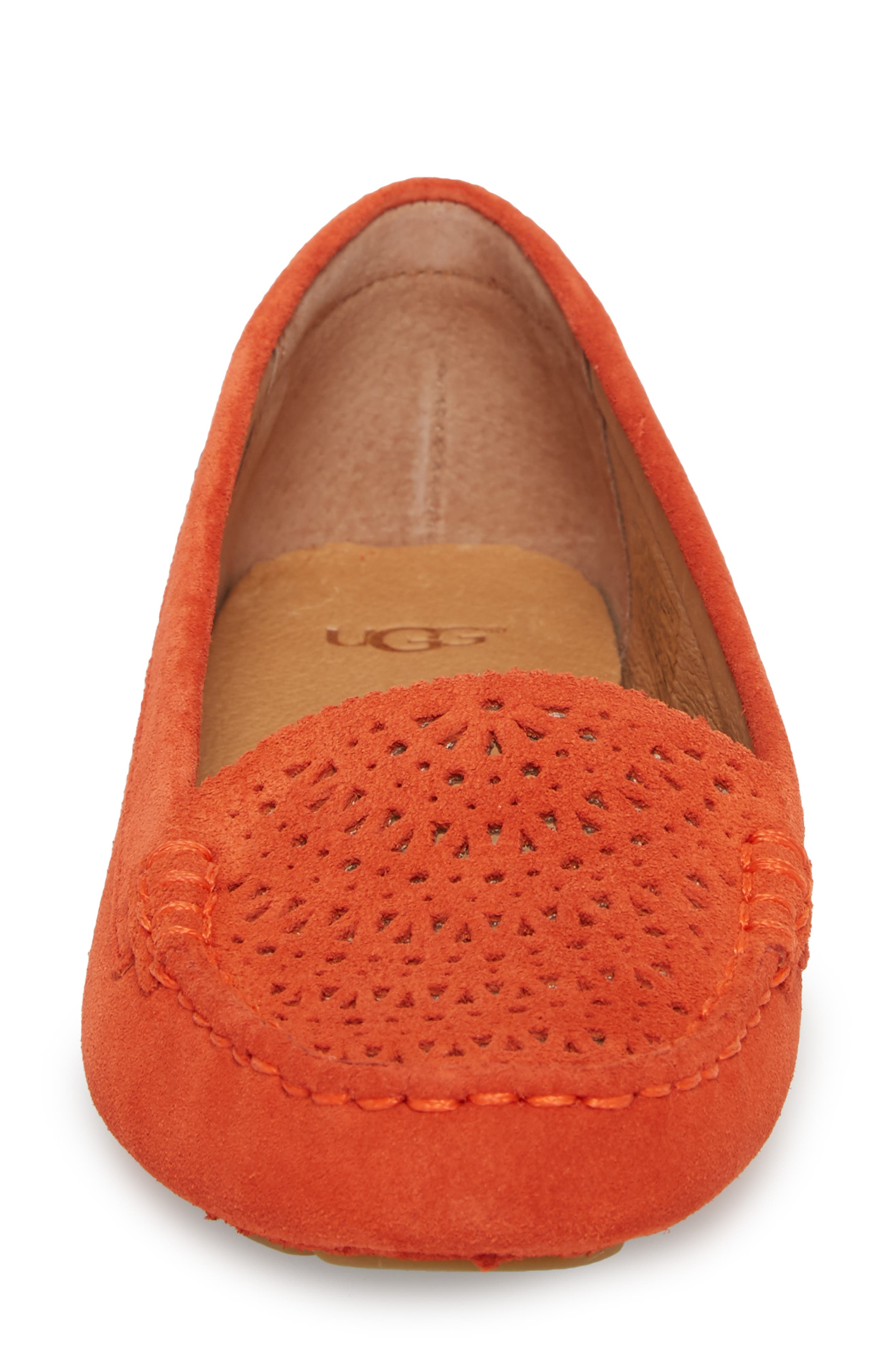 Clair Flat,                             Alternate thumbnail 5, color,                             Red Orange Suede