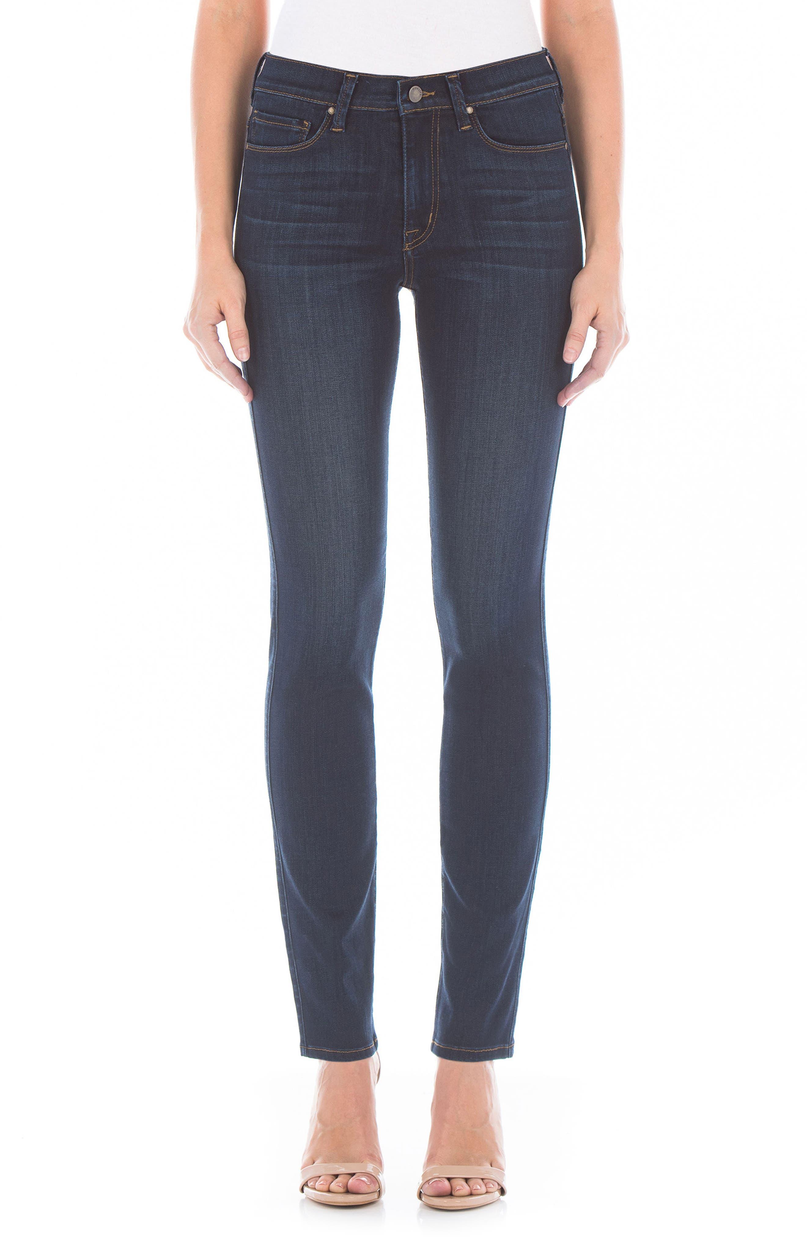 Fidelity Denim Cher High Waist Slim Jeans (Bali Blue)