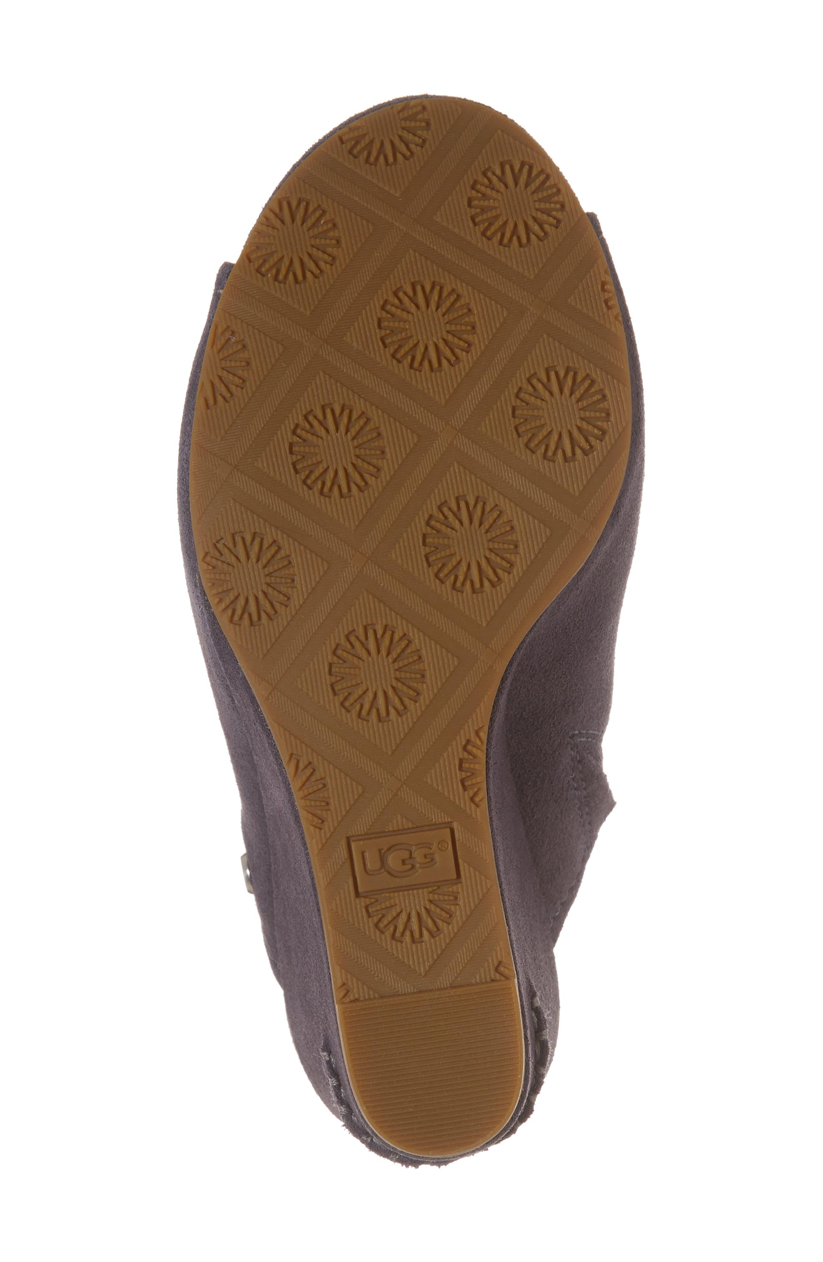 Lively Wedge Slide Sandal,                             Alternate thumbnail 6, color,                             Excalibur Suede