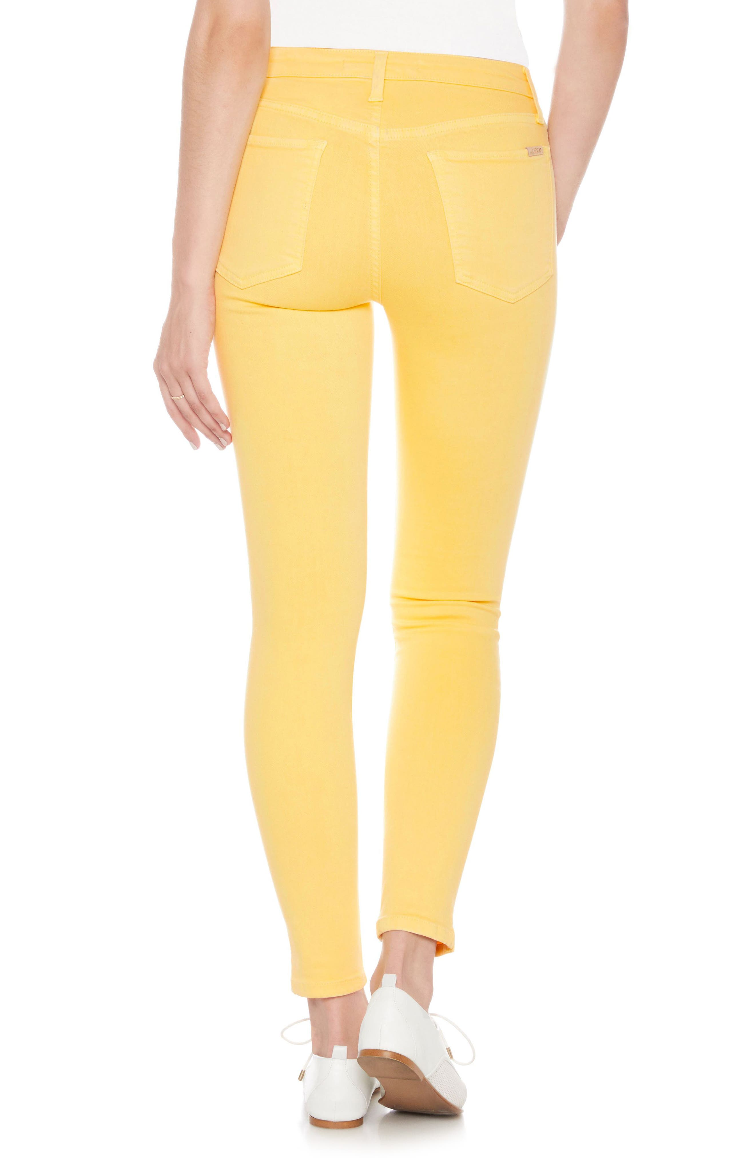 Charlie High Waist Ankle Skinny Jeans,                             Alternate thumbnail 2, color,                             Pale Marigold