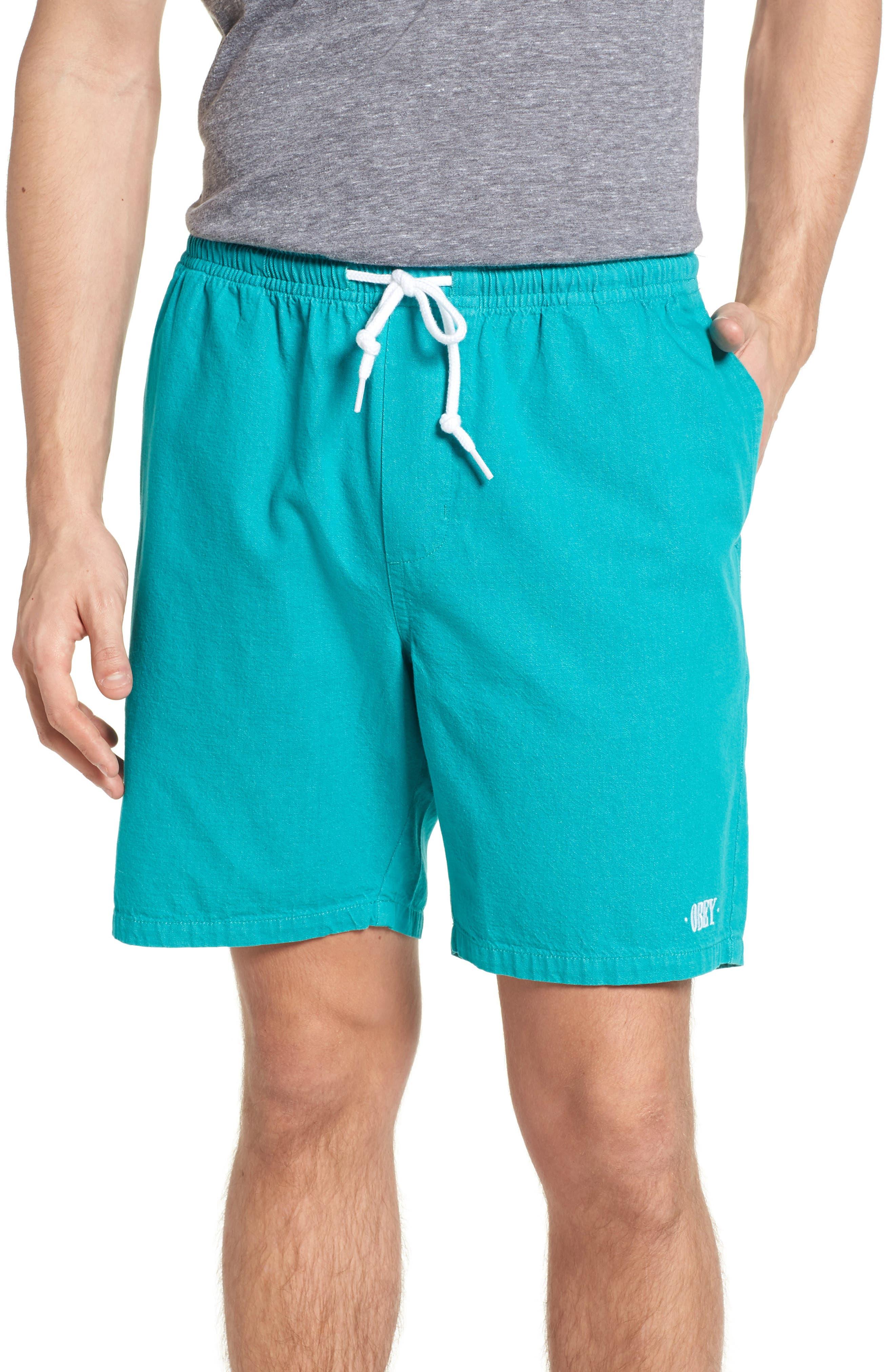 Keble Drawstring Shorts,                         Main,                         color, Teal