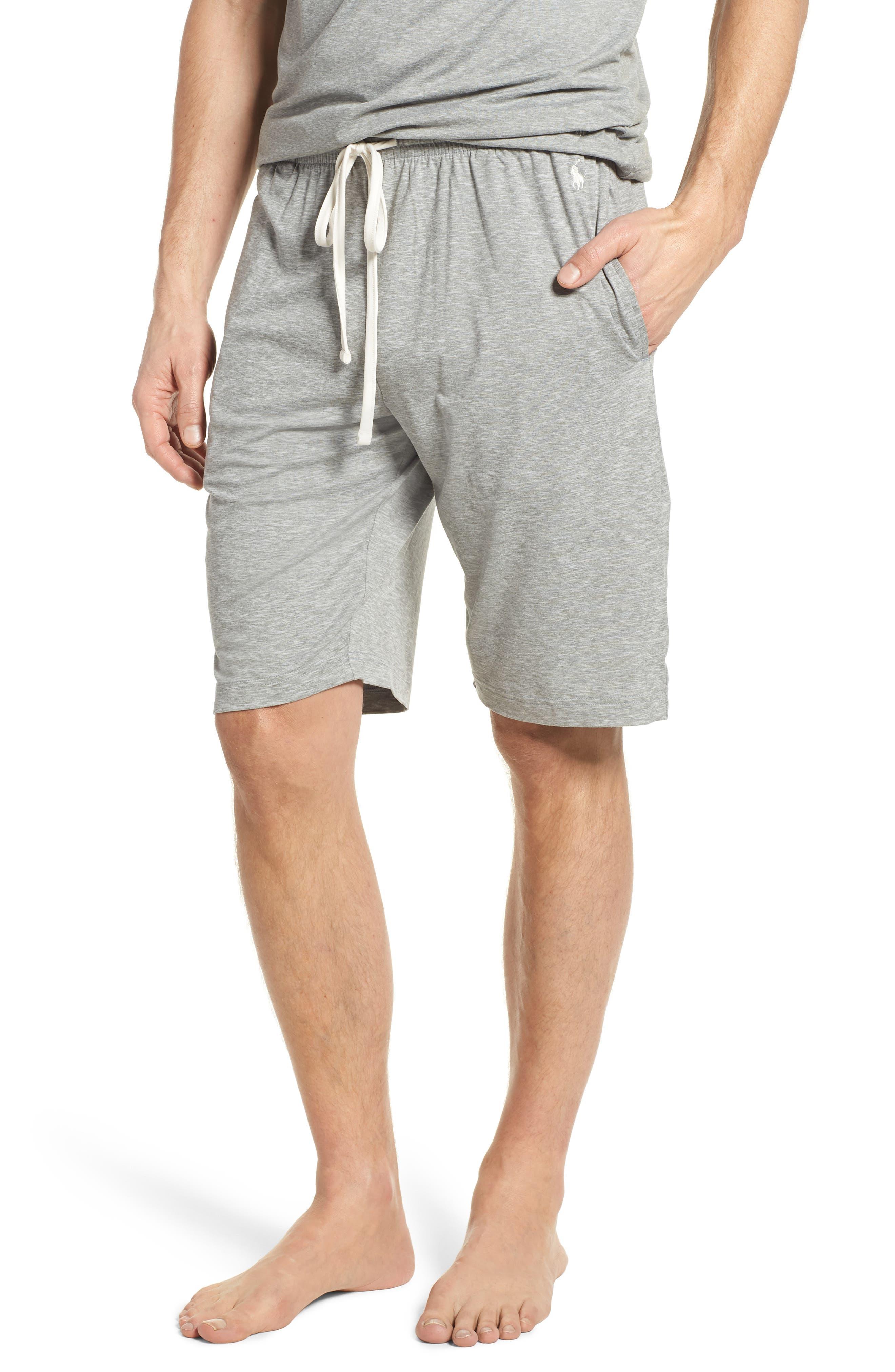 Therma Lounge Shorts,                         Main,                         color, Andover Heather/ Nevis