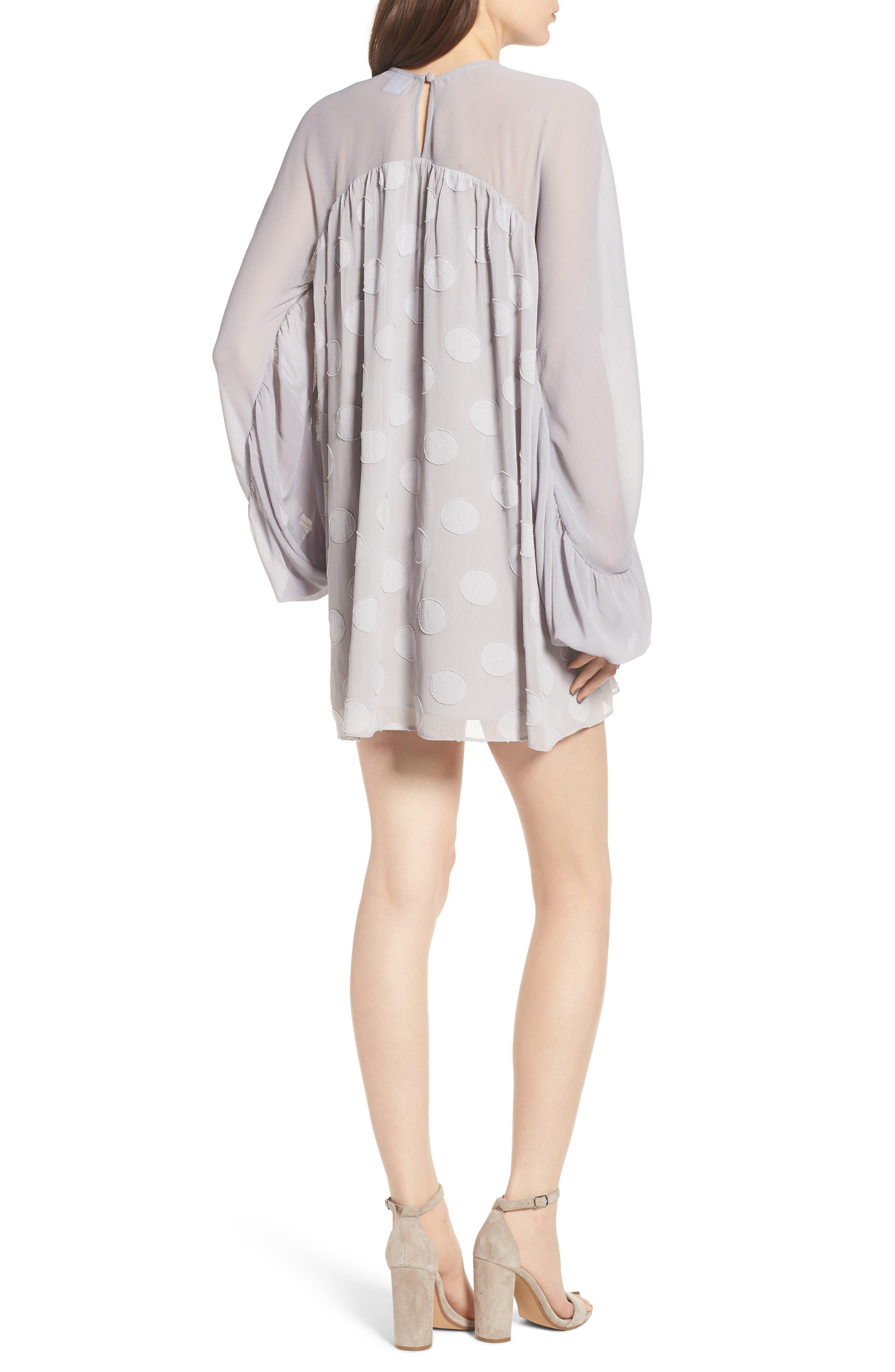 Tiered Minidress,                             Alternate thumbnail 2, color,                             Light Grey