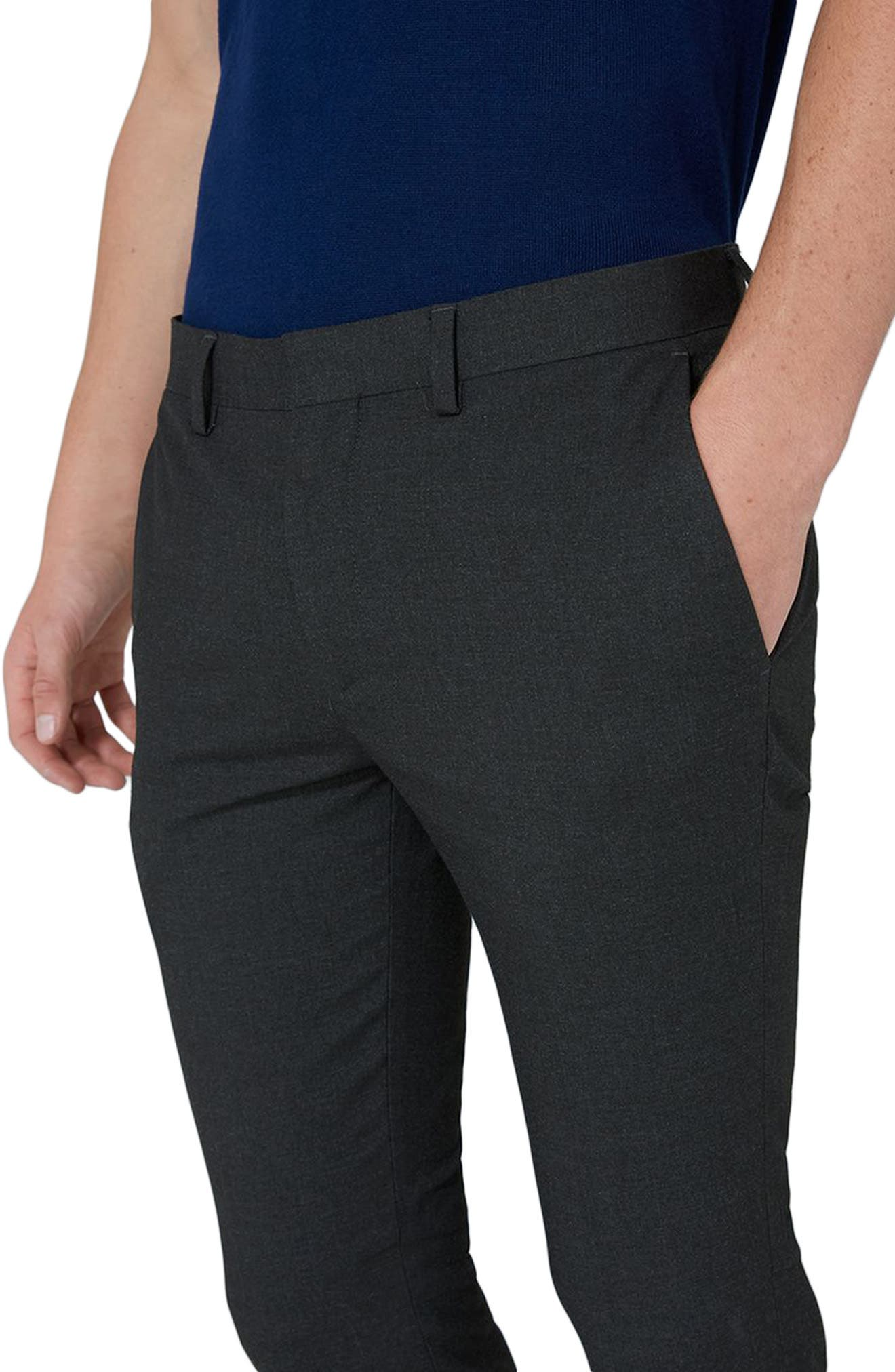 Ultra Skinny Fit Trousers,                             Alternate thumbnail 3, color,                             Charcoal