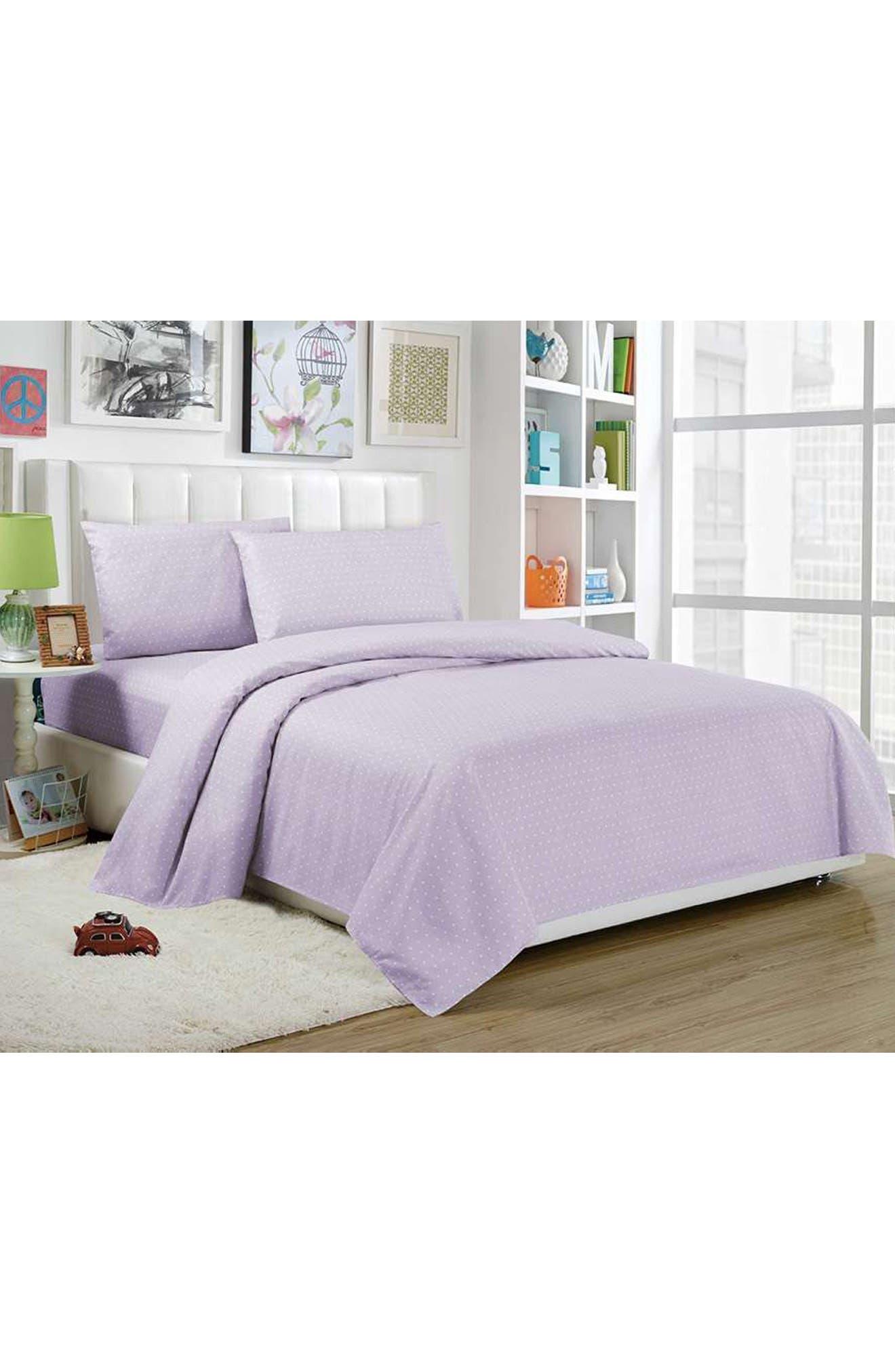 Trina 3-Piece Twin Sheet Set,                         Main,                         color, Lavender