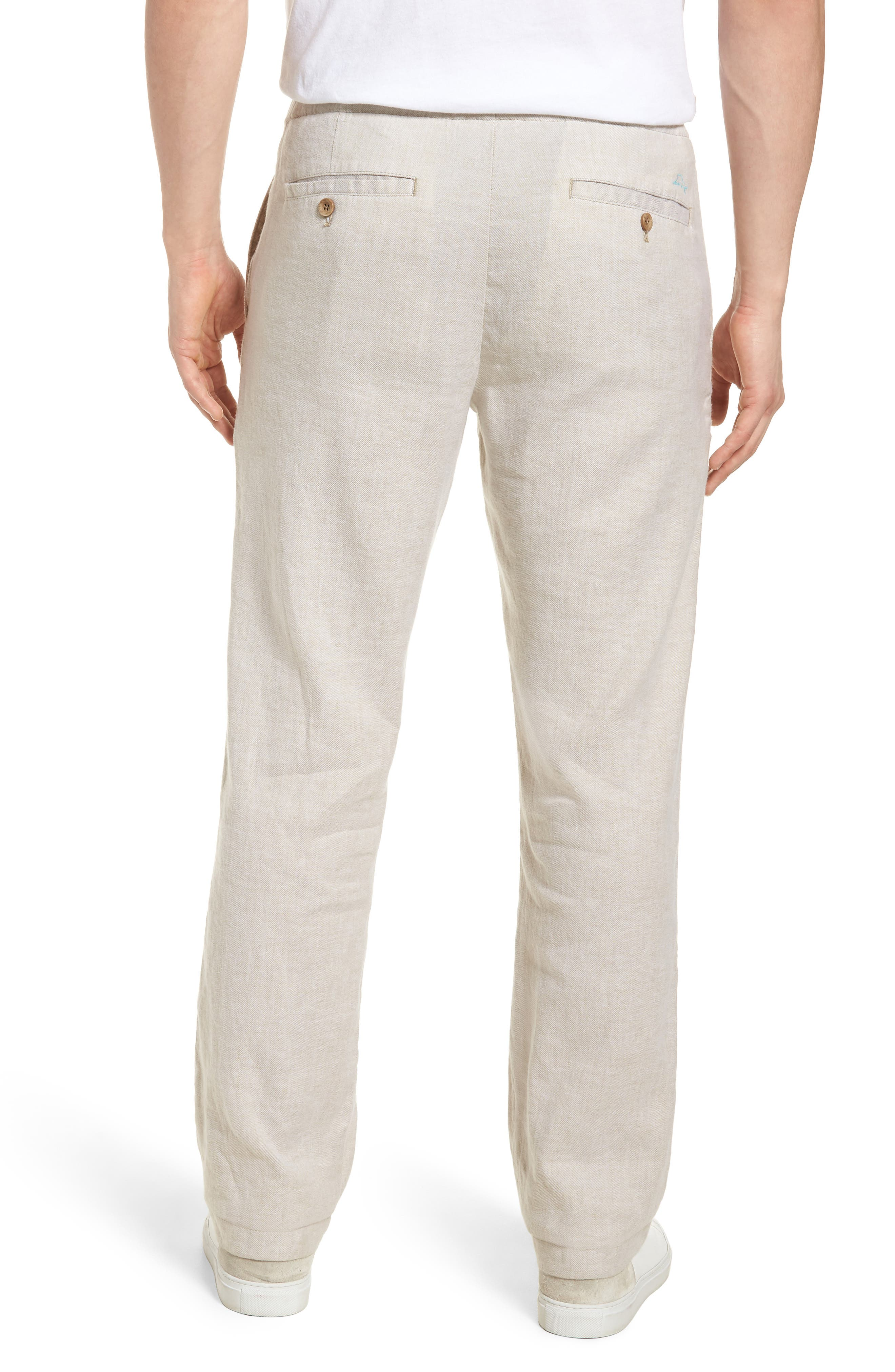 Beach Linen Blend Pants,                             Alternate thumbnail 2, color,                             Stone Khaki