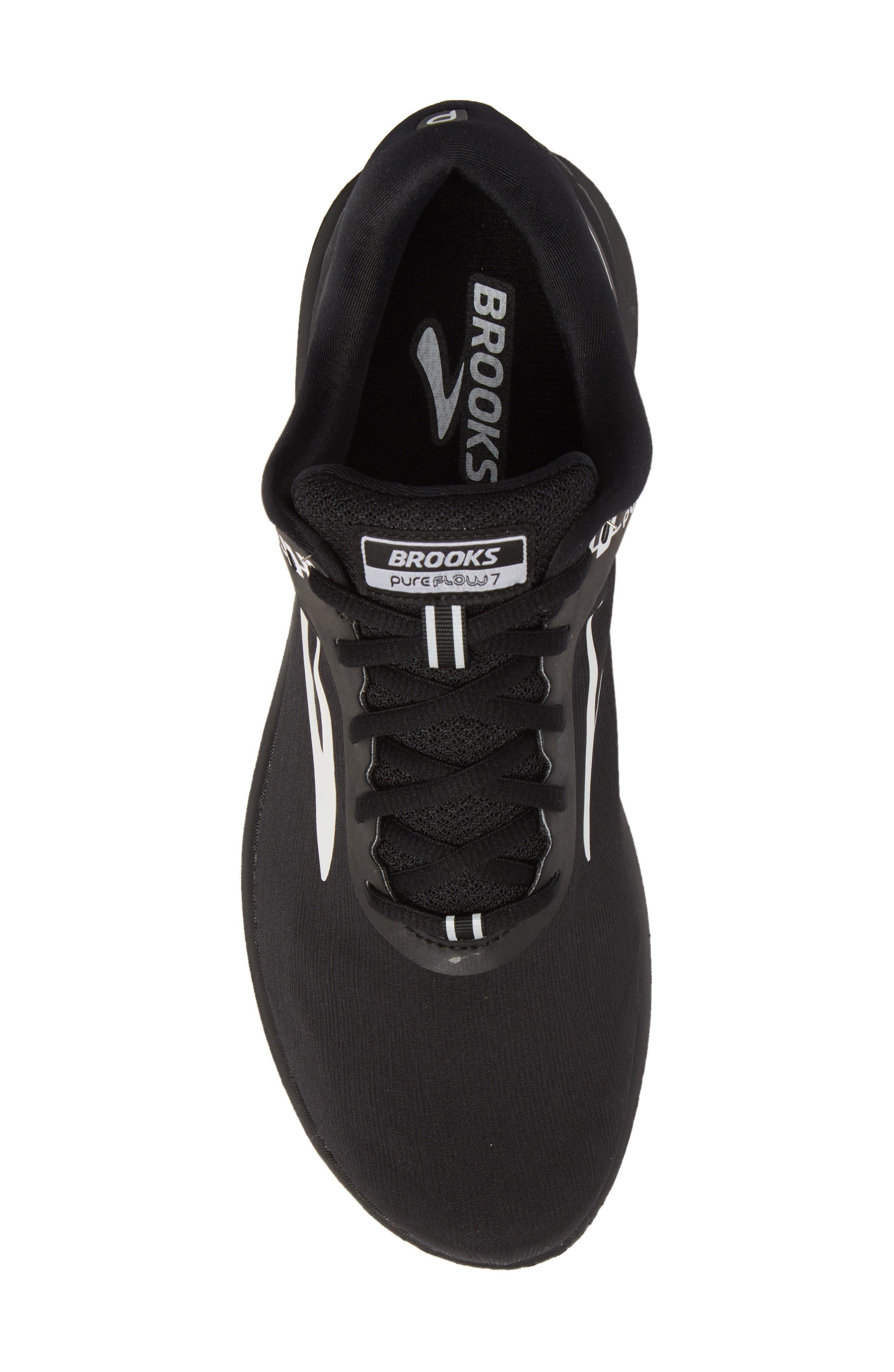 PureFlow 7 Running Shoe,                             Alternate thumbnail 5, color,                             Black/ White