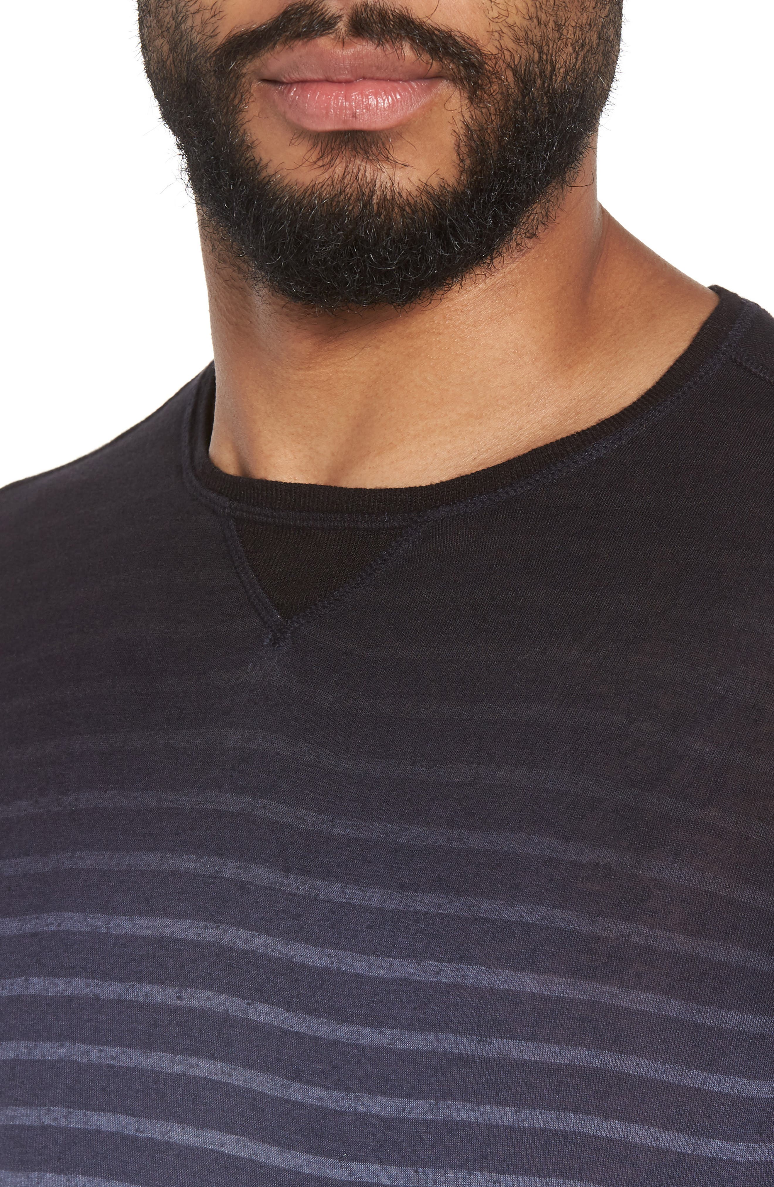 Ombré Stripe T-Shirt,                             Alternate thumbnail 4, color,                             Lake Blue
