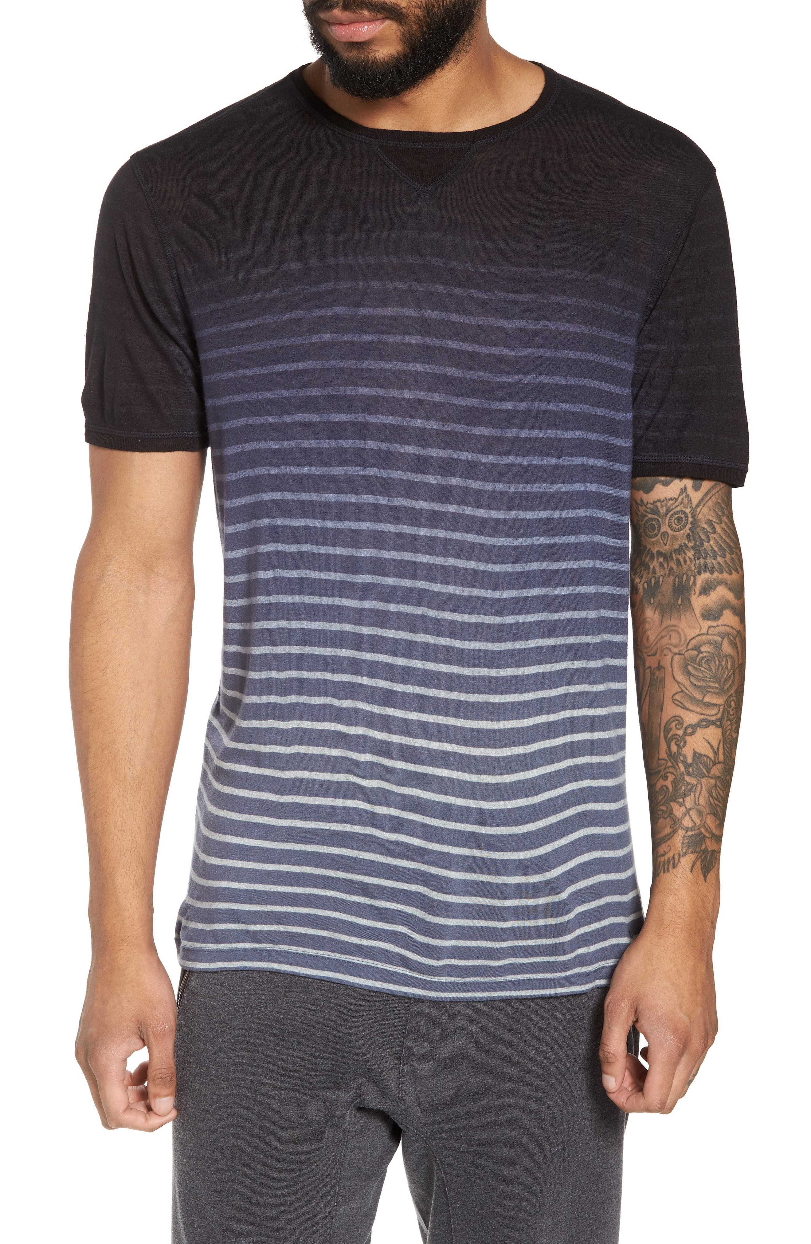 Ombré Stripe T-Shirt,                         Main,                         color, Lake Blue