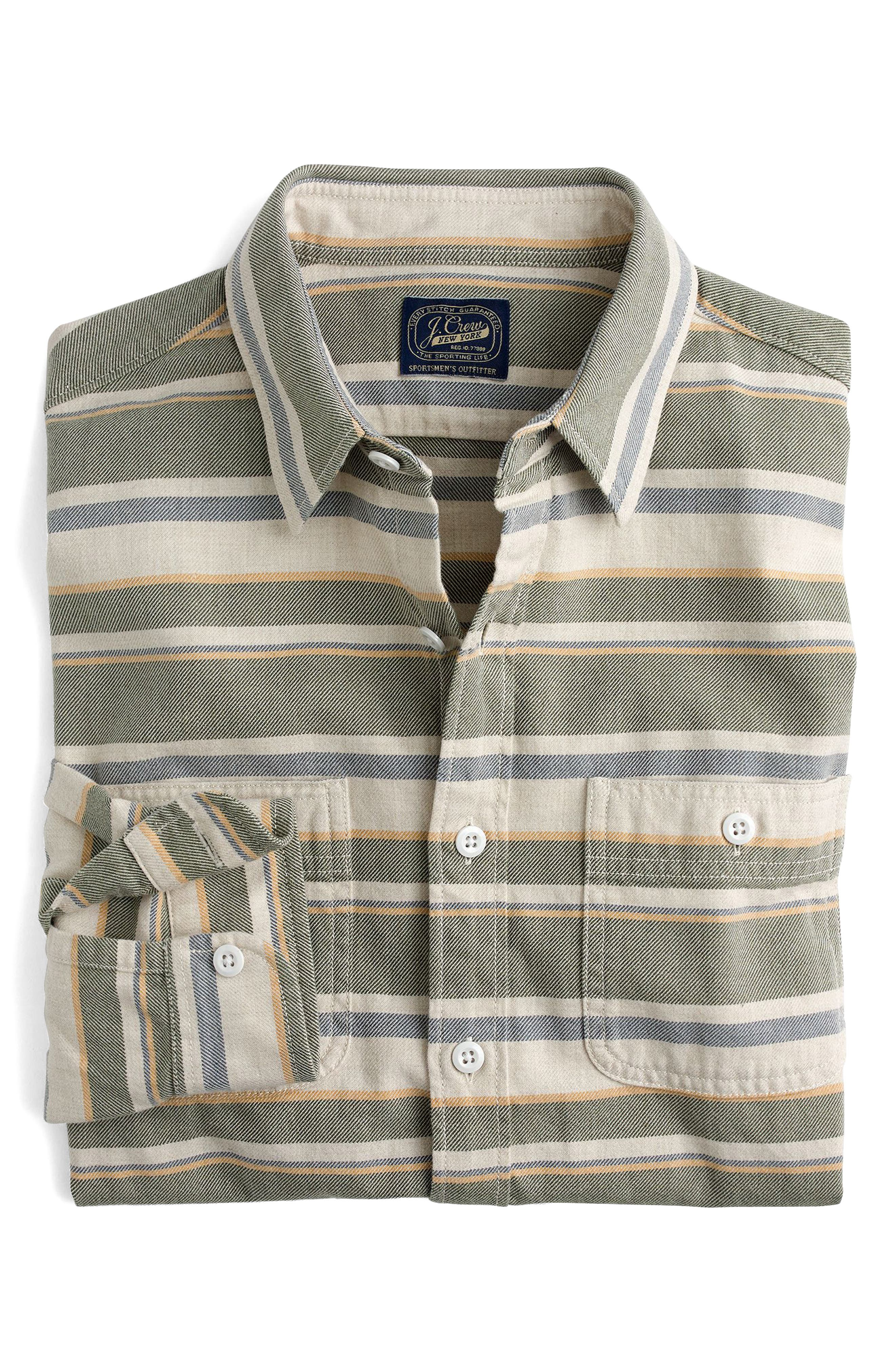 Alternate Image 3  - J.Crew Classic Fit Deck Stripe Work Shirt