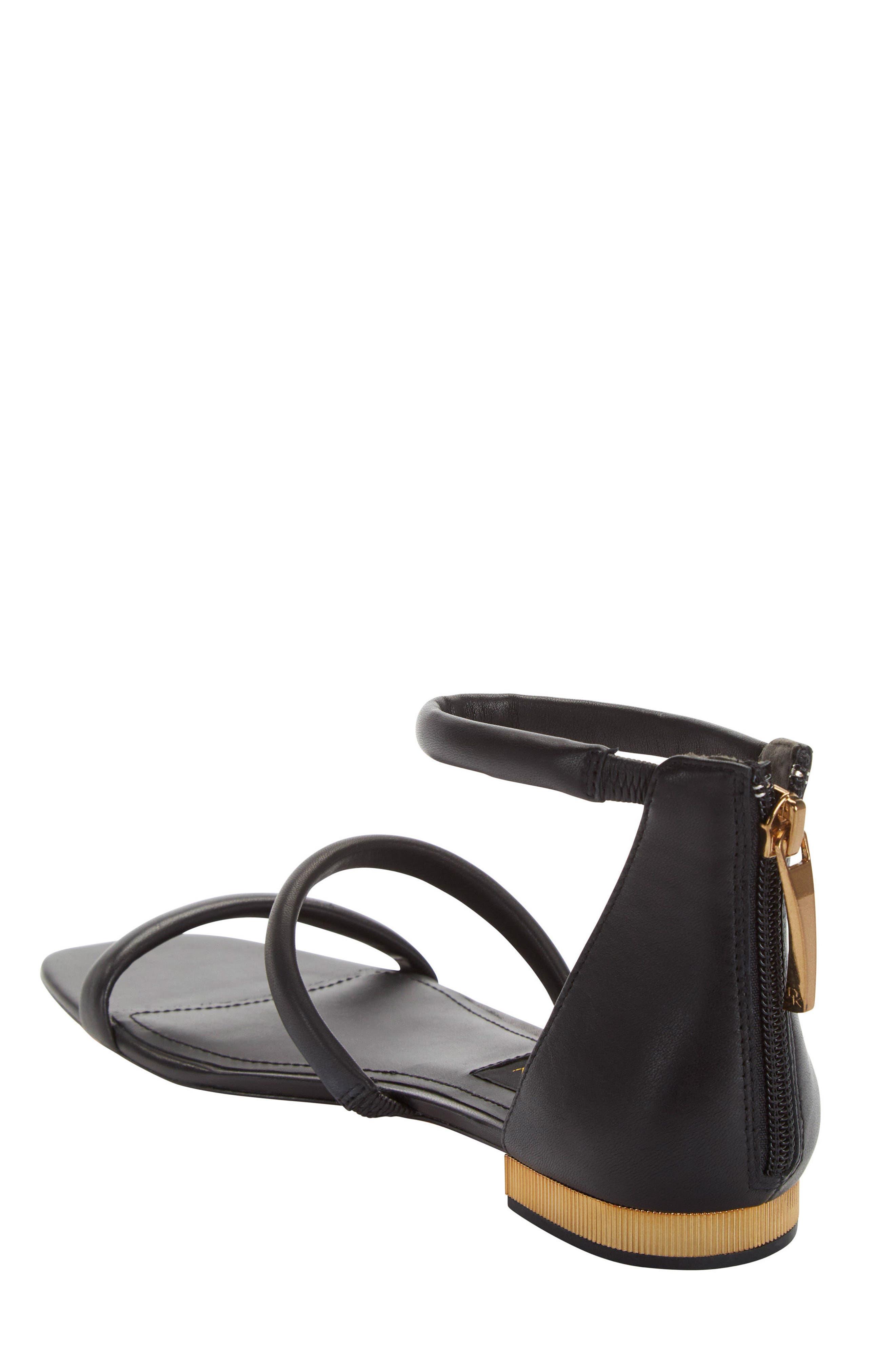 Donna Karan Galina Sandal,                             Alternate thumbnail 2, color,                             Black Leather