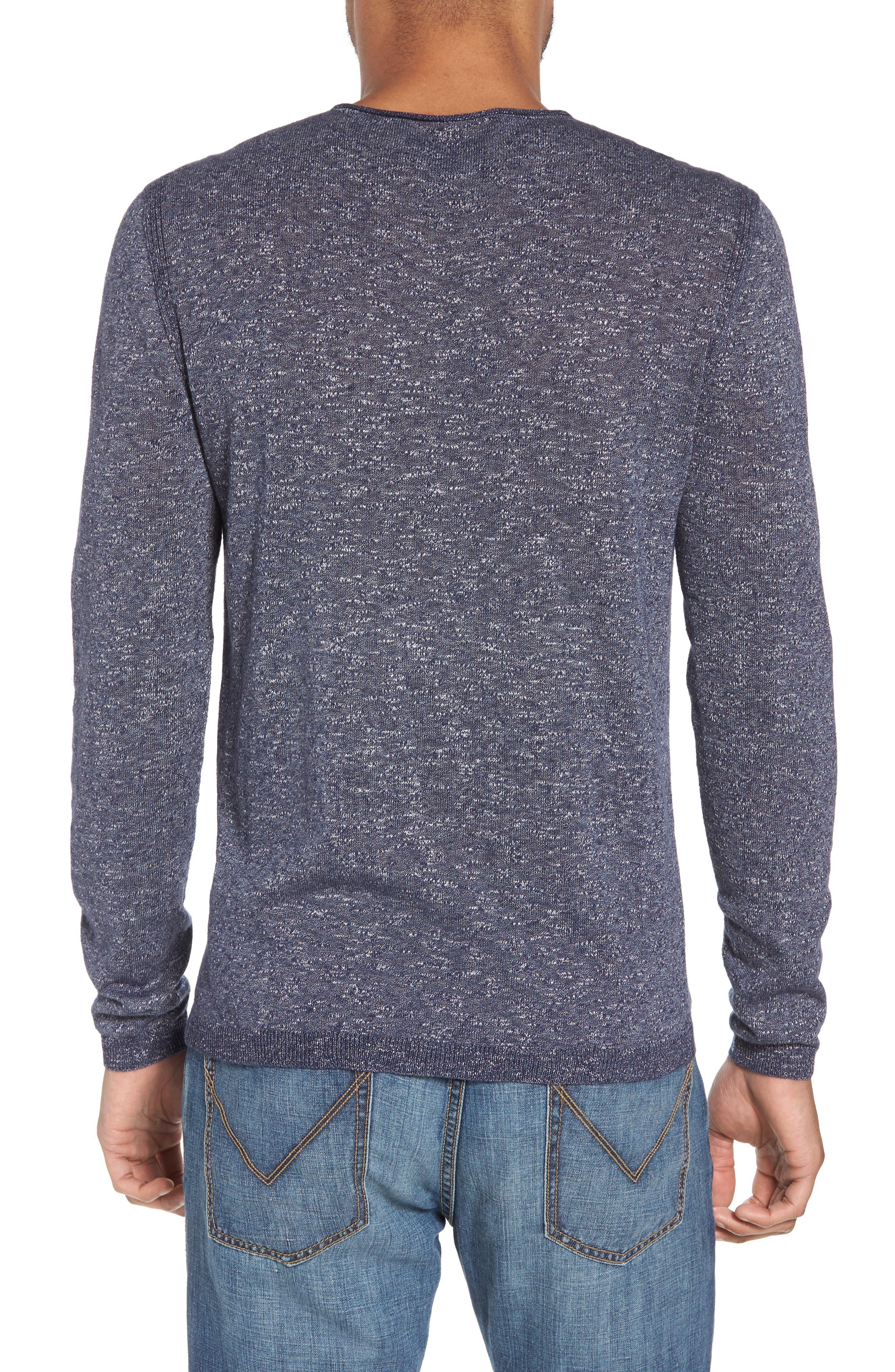 Slim Fit Cotton Blend Sweater,                             Alternate thumbnail 2, color,                             Officer Blue