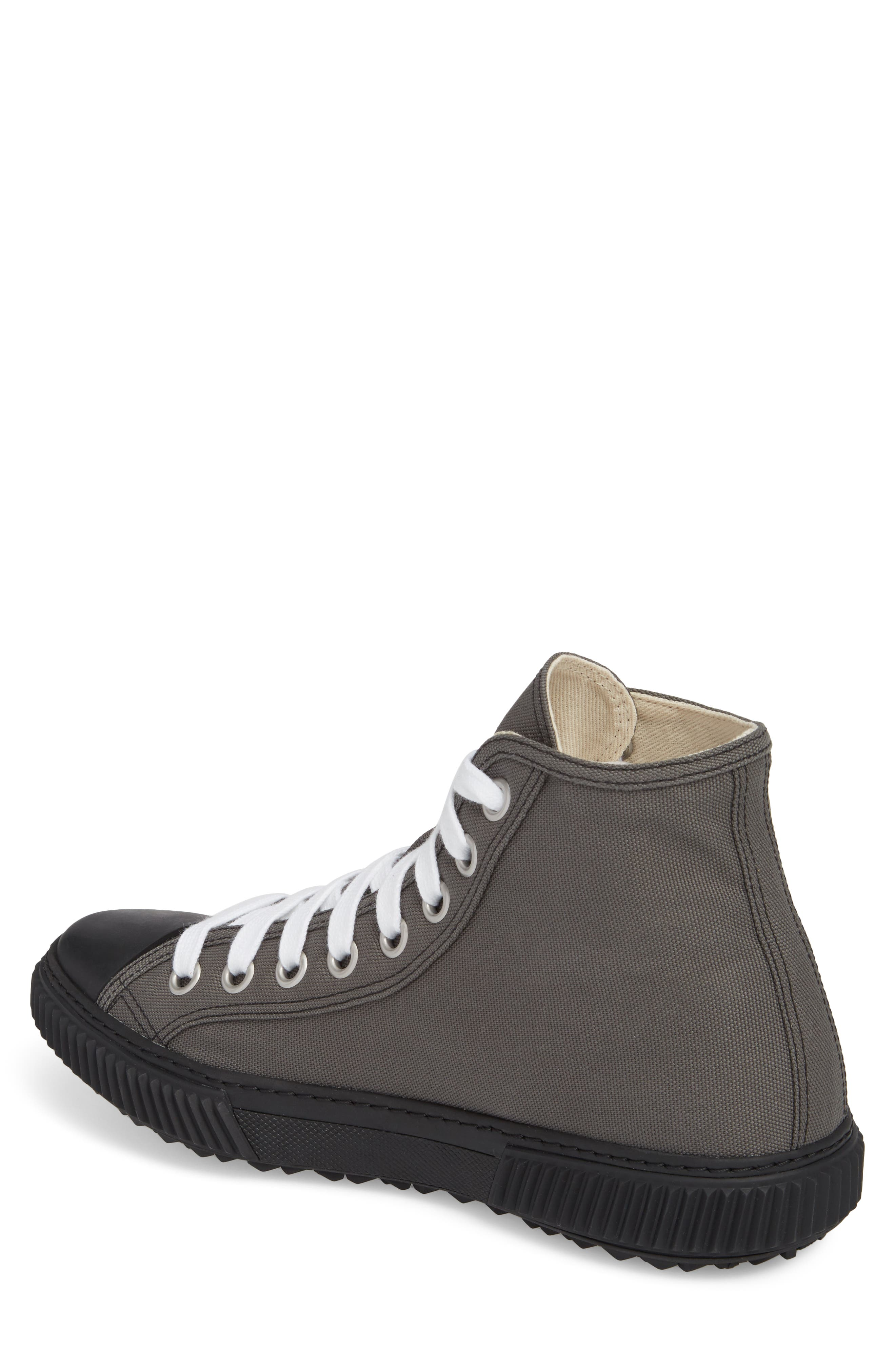 Cap Toe High Top Sneaker,                             Alternate thumbnail 2, color,                             Ardesia Nero