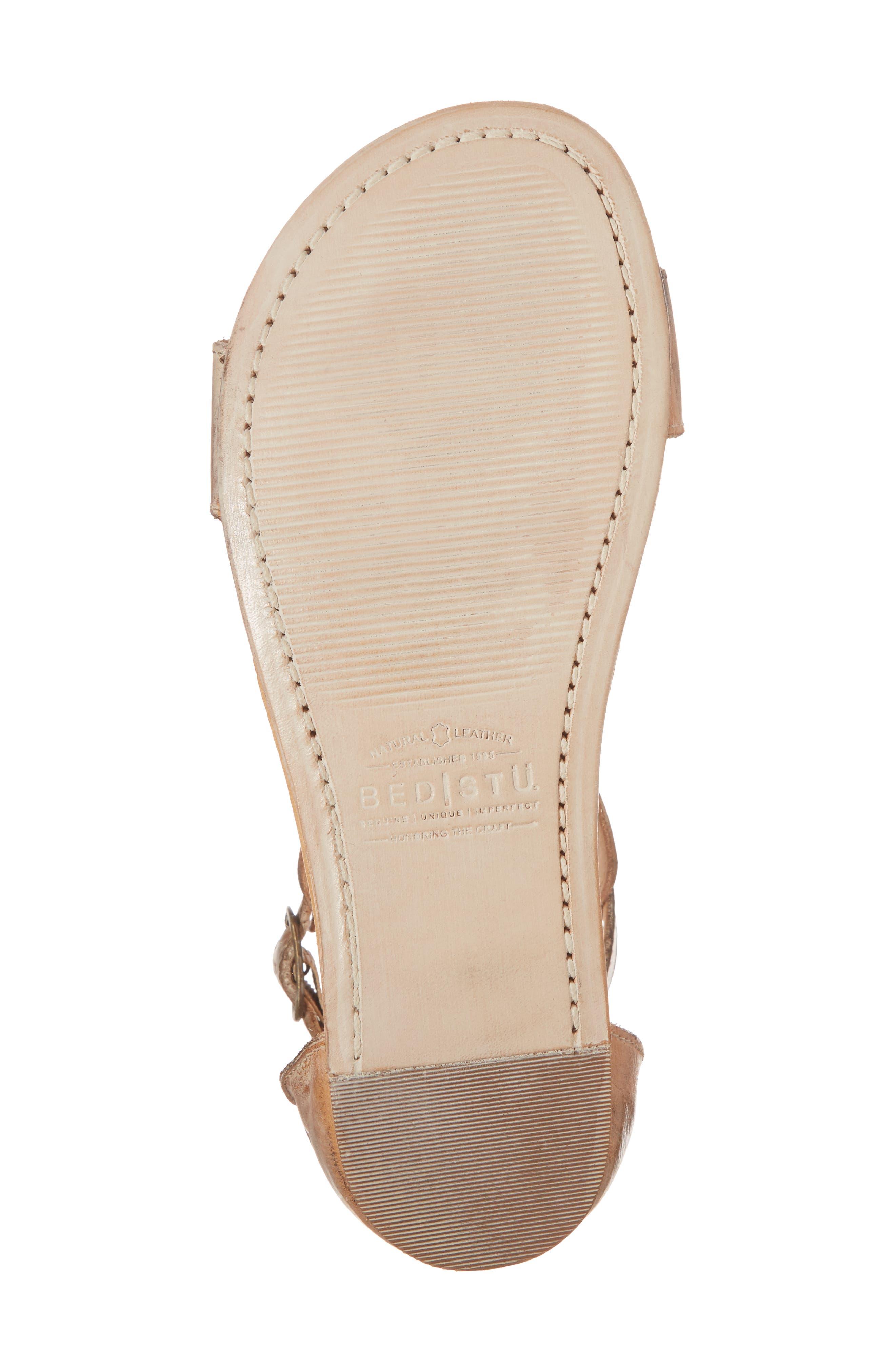 Sable Sandal,                             Alternate thumbnail 6, color,                             Tan/ White Leather