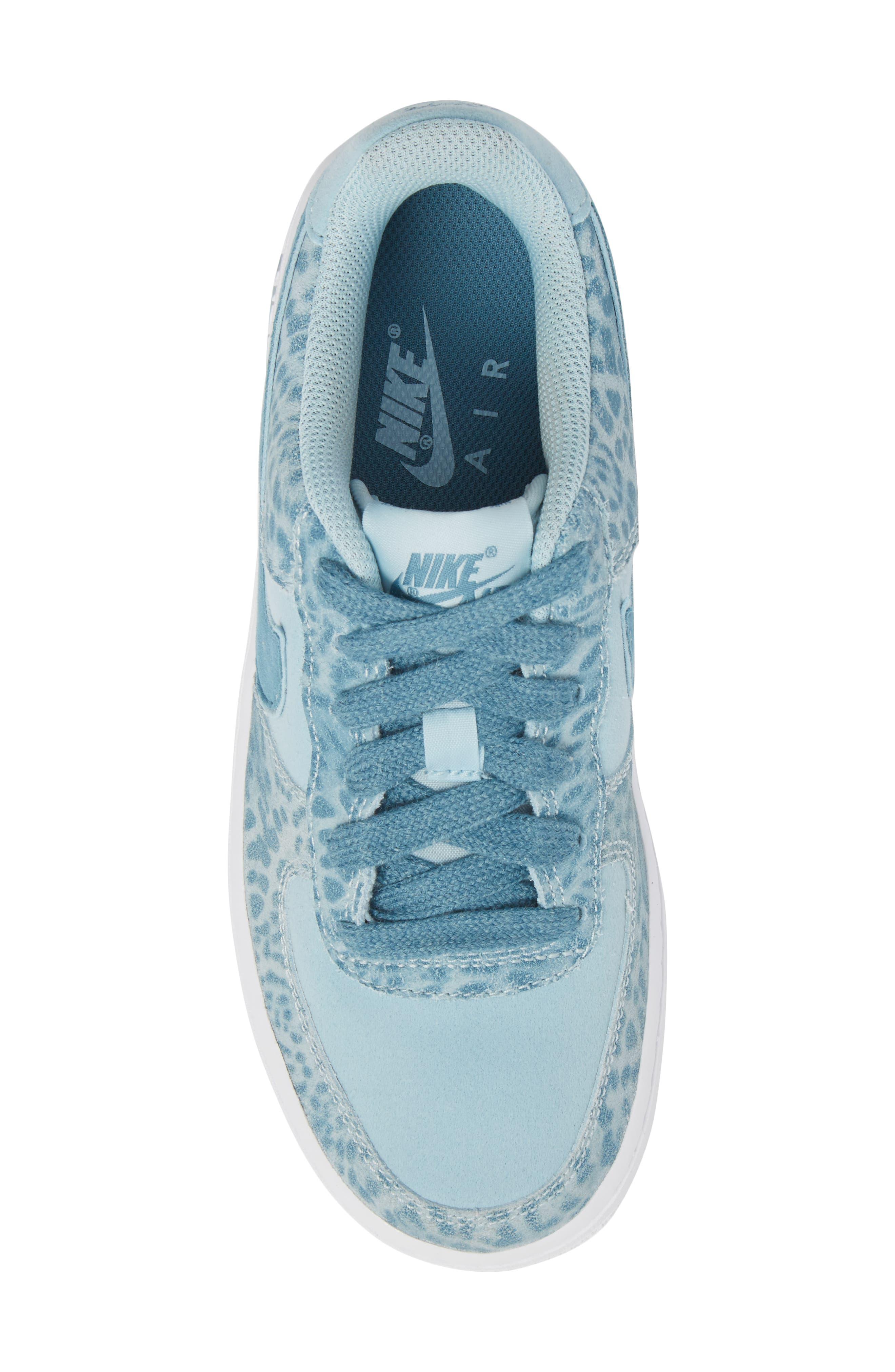 Air Force 1 LV8 Sneaker,                             Alternate thumbnail 5, color,                             Ocean Bliss/ Noise Aqua/ White