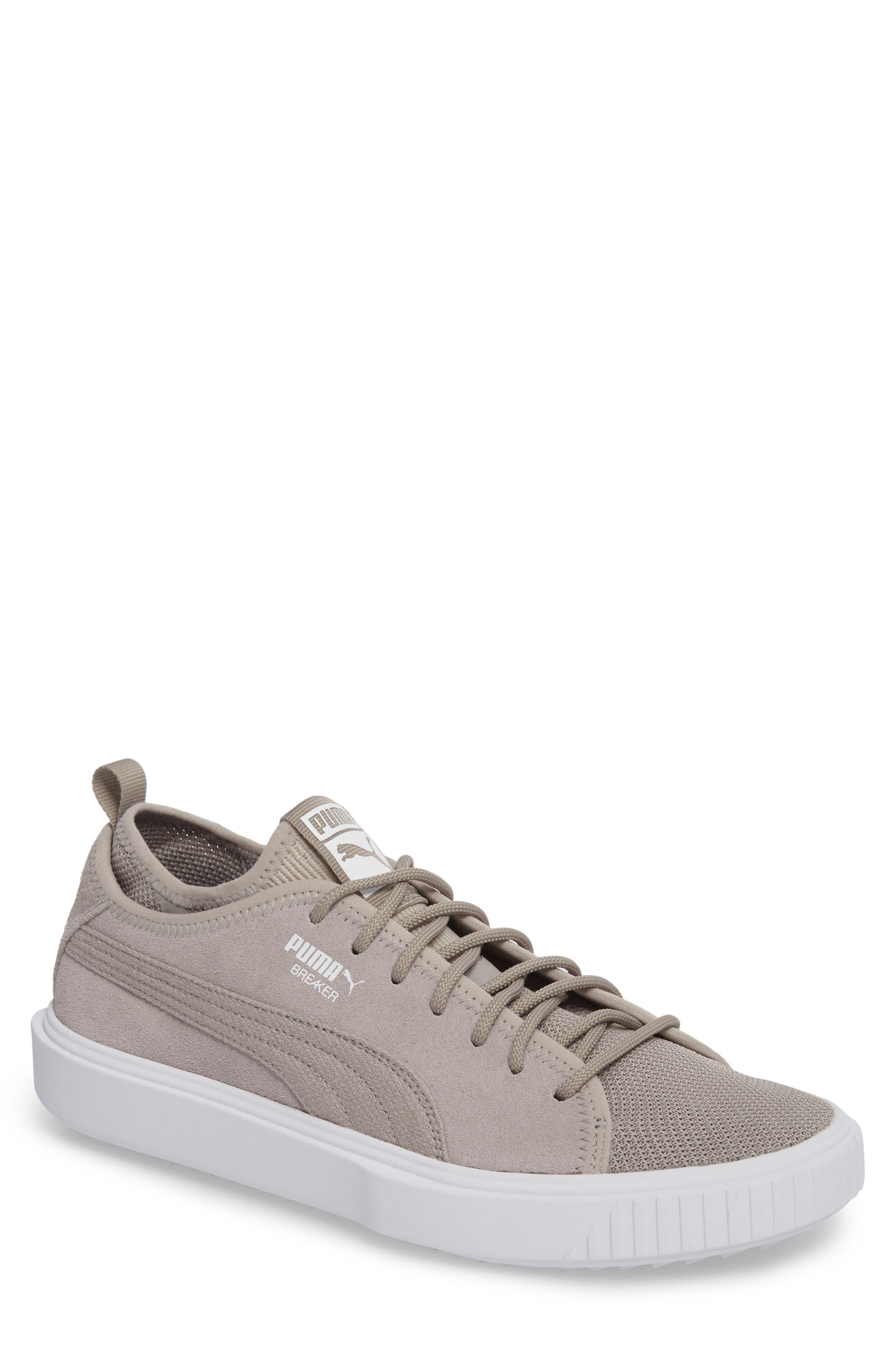 Breaker Mesh Sneaker,                         Main,                         color, Ash/ White Suede