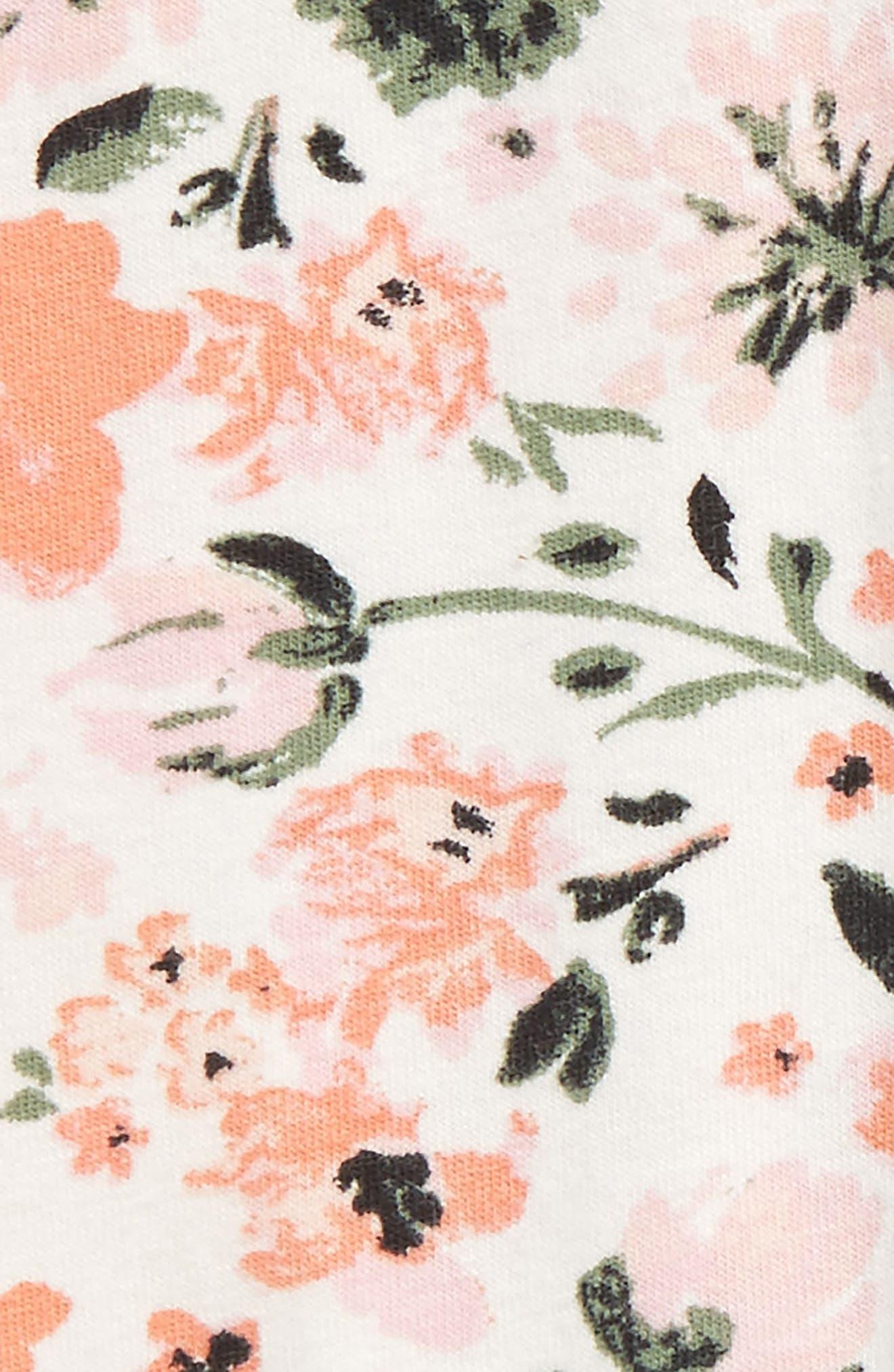 Floral Print Leggings,                             Alternate thumbnail 2, color,                             Ivory Egret Botanical Garden