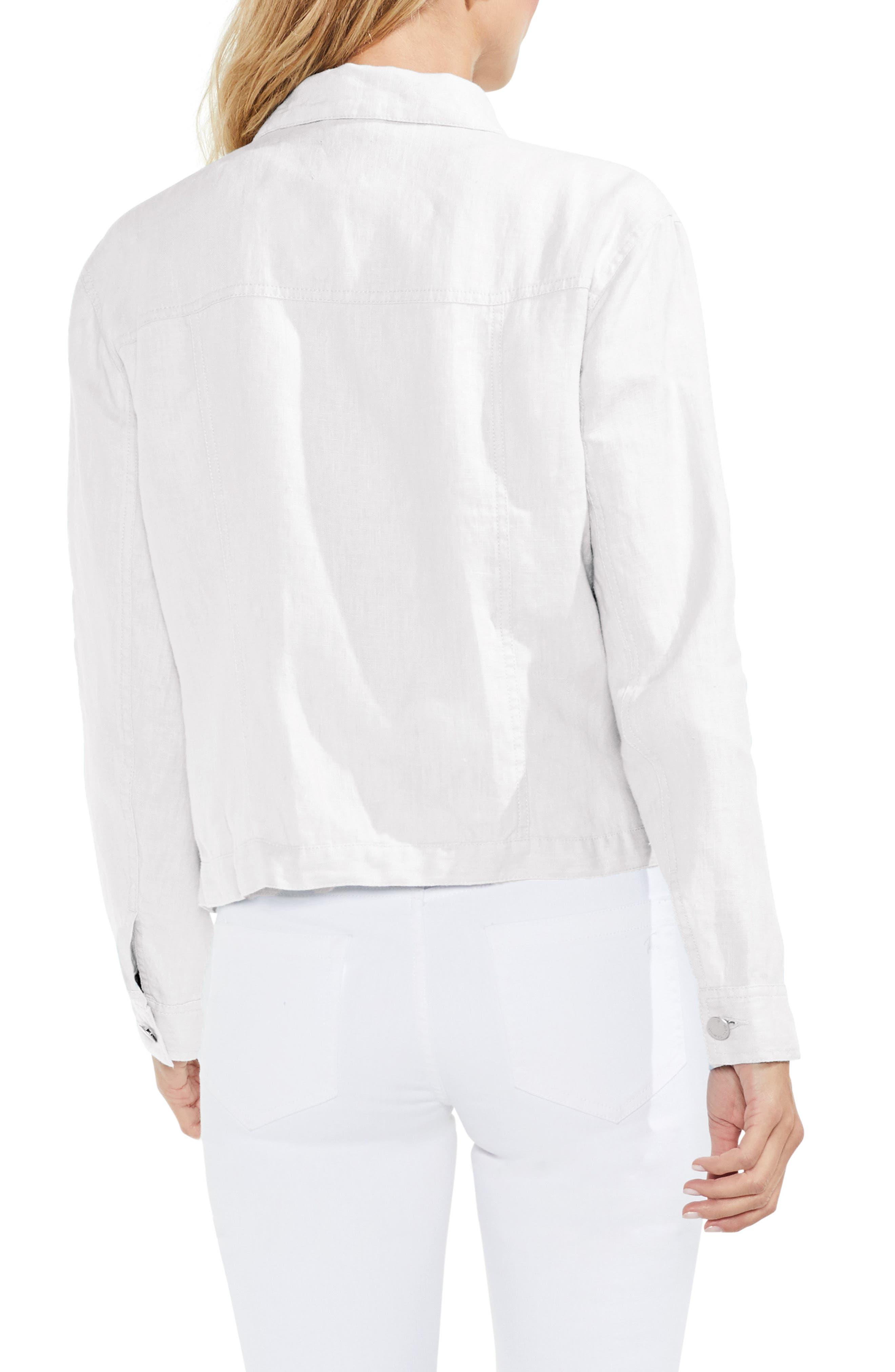 Classic Linen Jacket,                             Alternate thumbnail 2, color,                             Ultra White