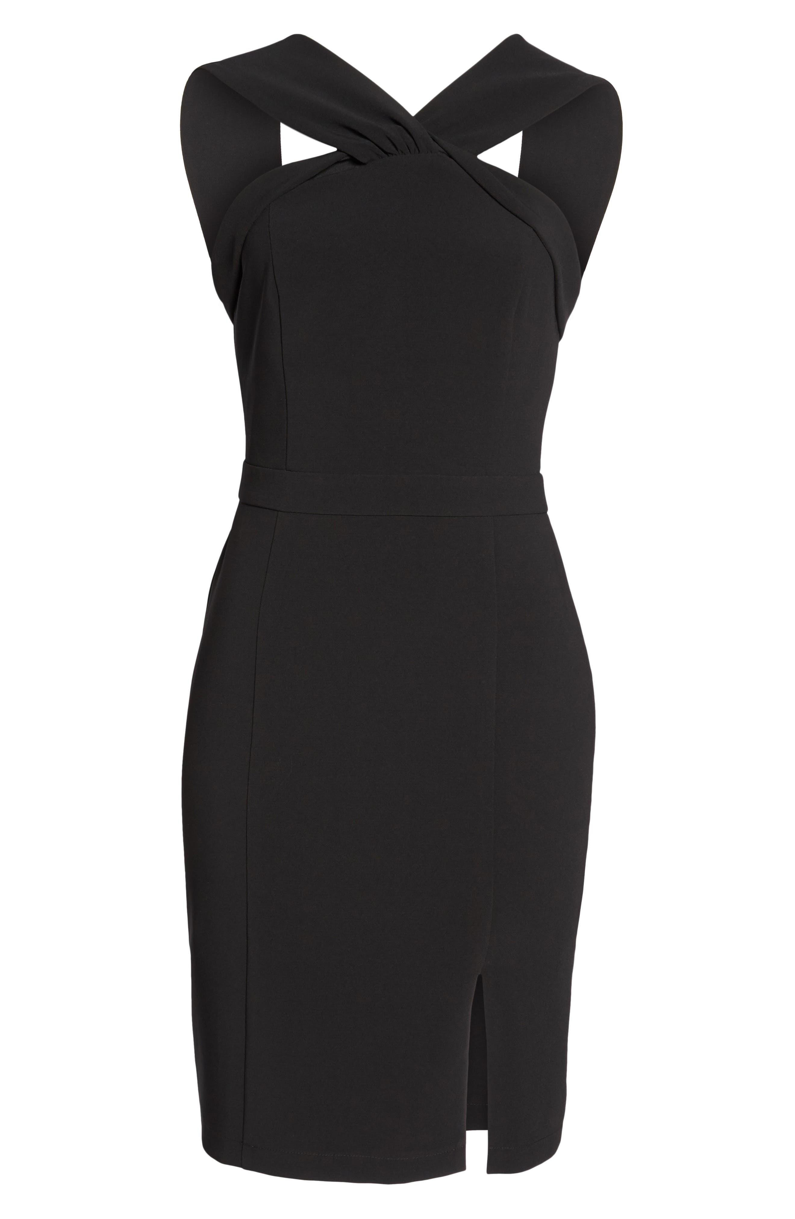 Wanda Sleeveless Sheath Dress,                             Alternate thumbnail 6, color,                             Black