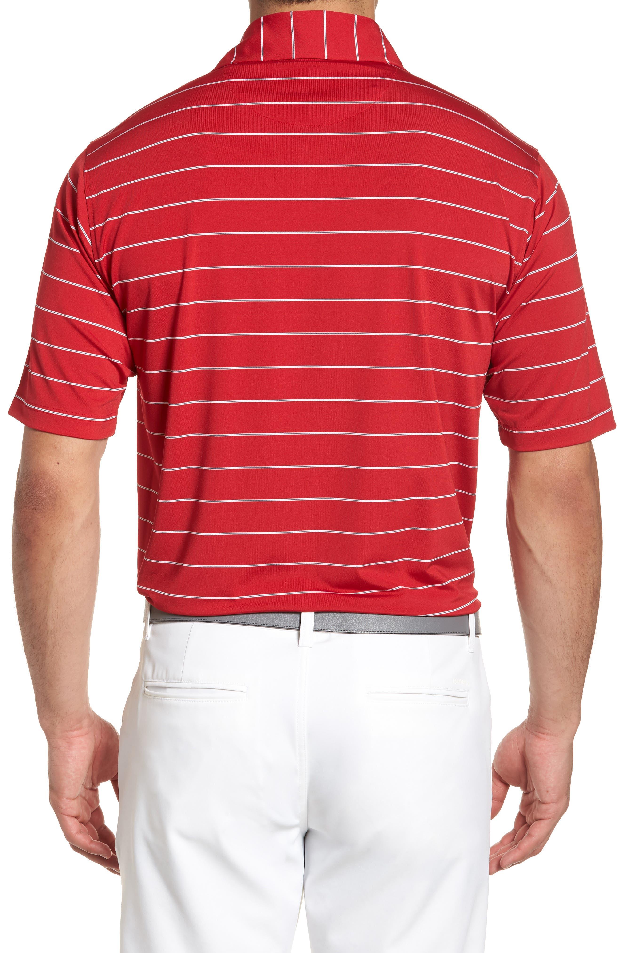 XH2O Momentum Stripe Jersey Polo,                             Alternate thumbnail 2, color,                             Cambridge Red