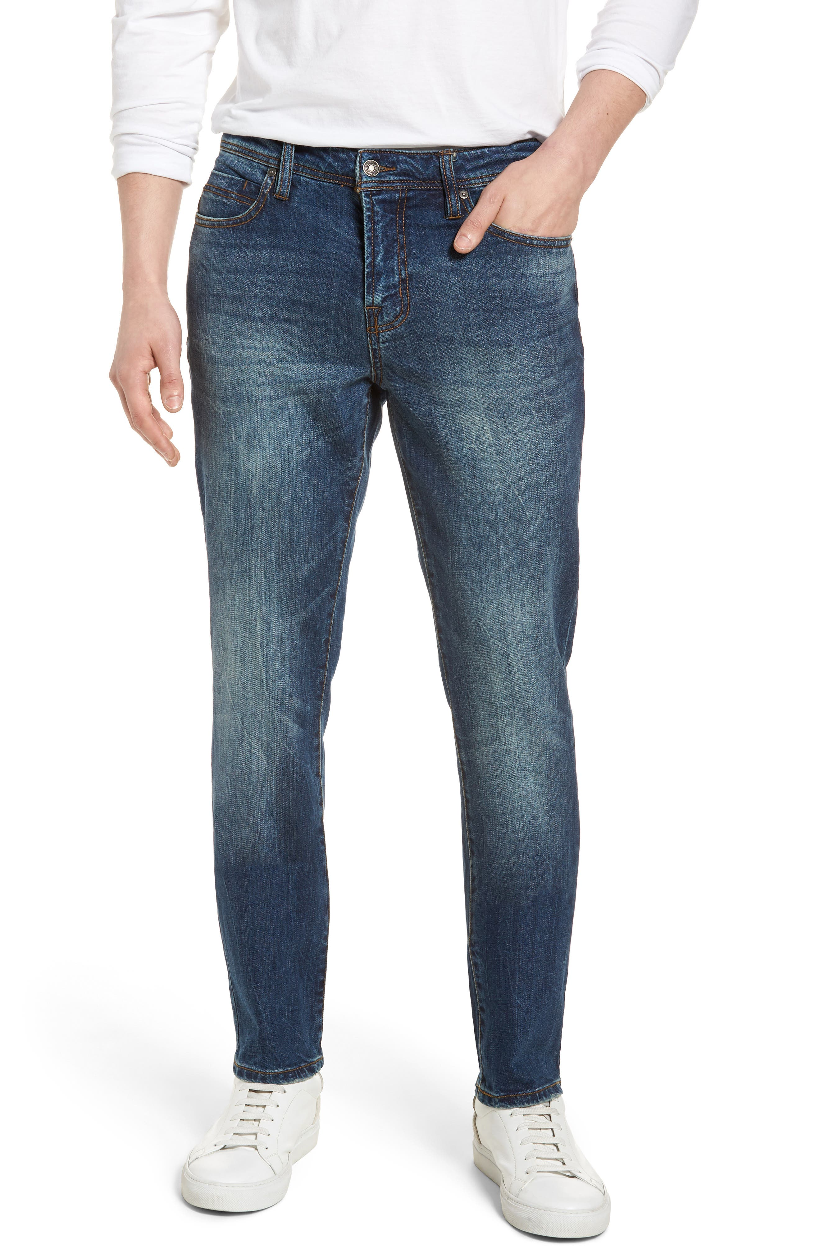 Jeans Co. Kingston Slim Straight Leg Jeans,                             Main thumbnail 1, color,                             Odessa Vintage Dark