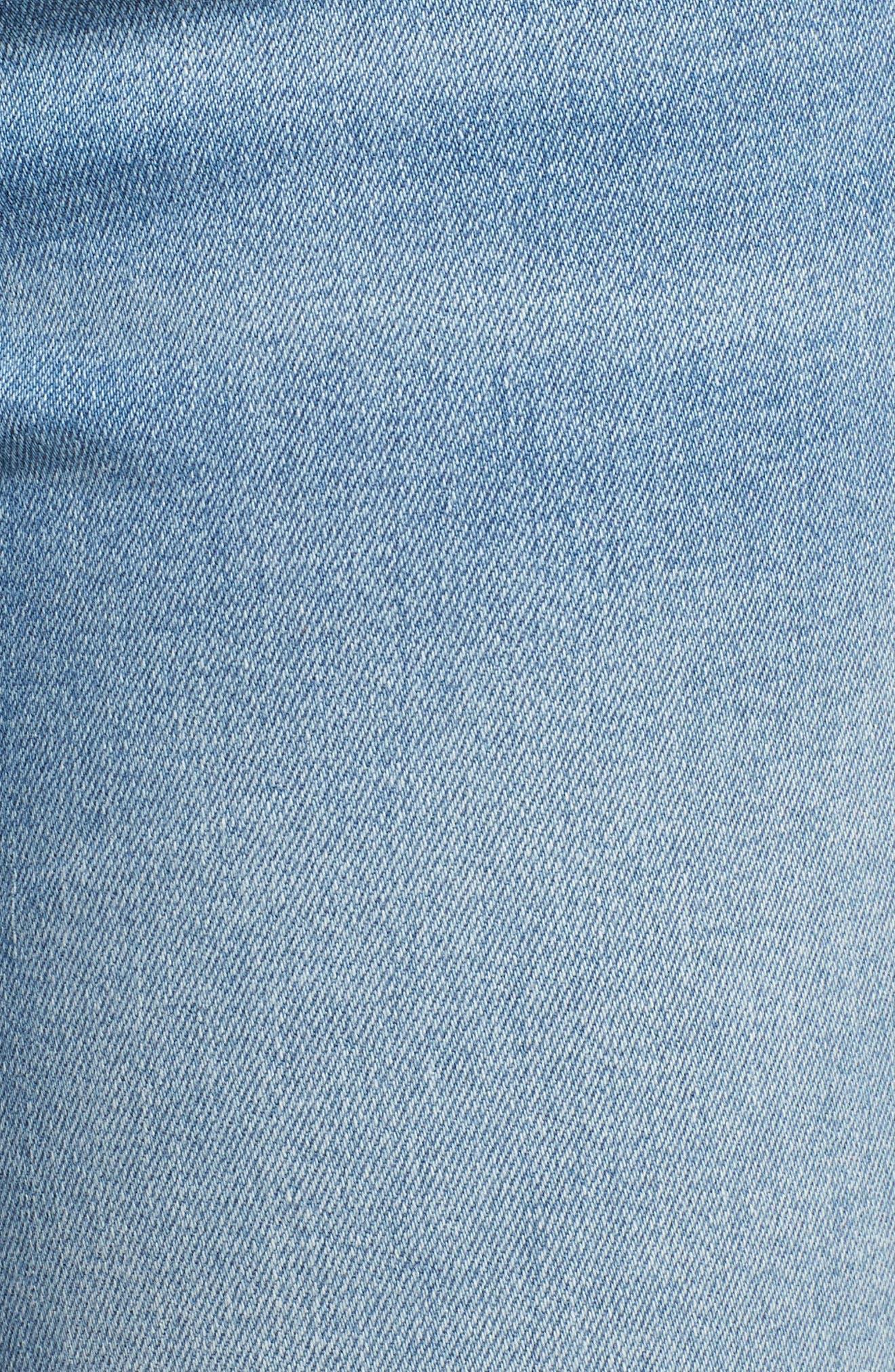 Adriana Ankle Zip Step Hem Jeans,                             Alternate thumbnail 6, color,                             Mid Fringe Nolita