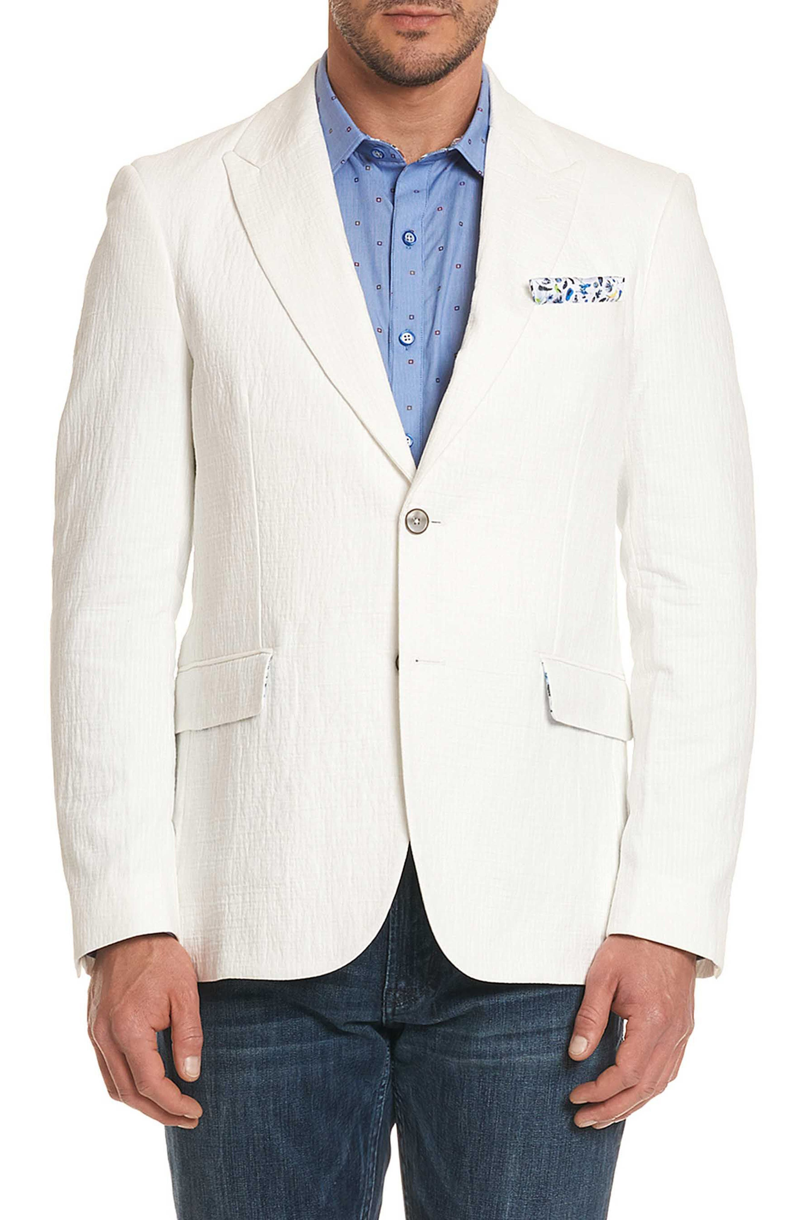 Montero Classic Fit Seersucker Sport Coat,                         Main,                         color, White