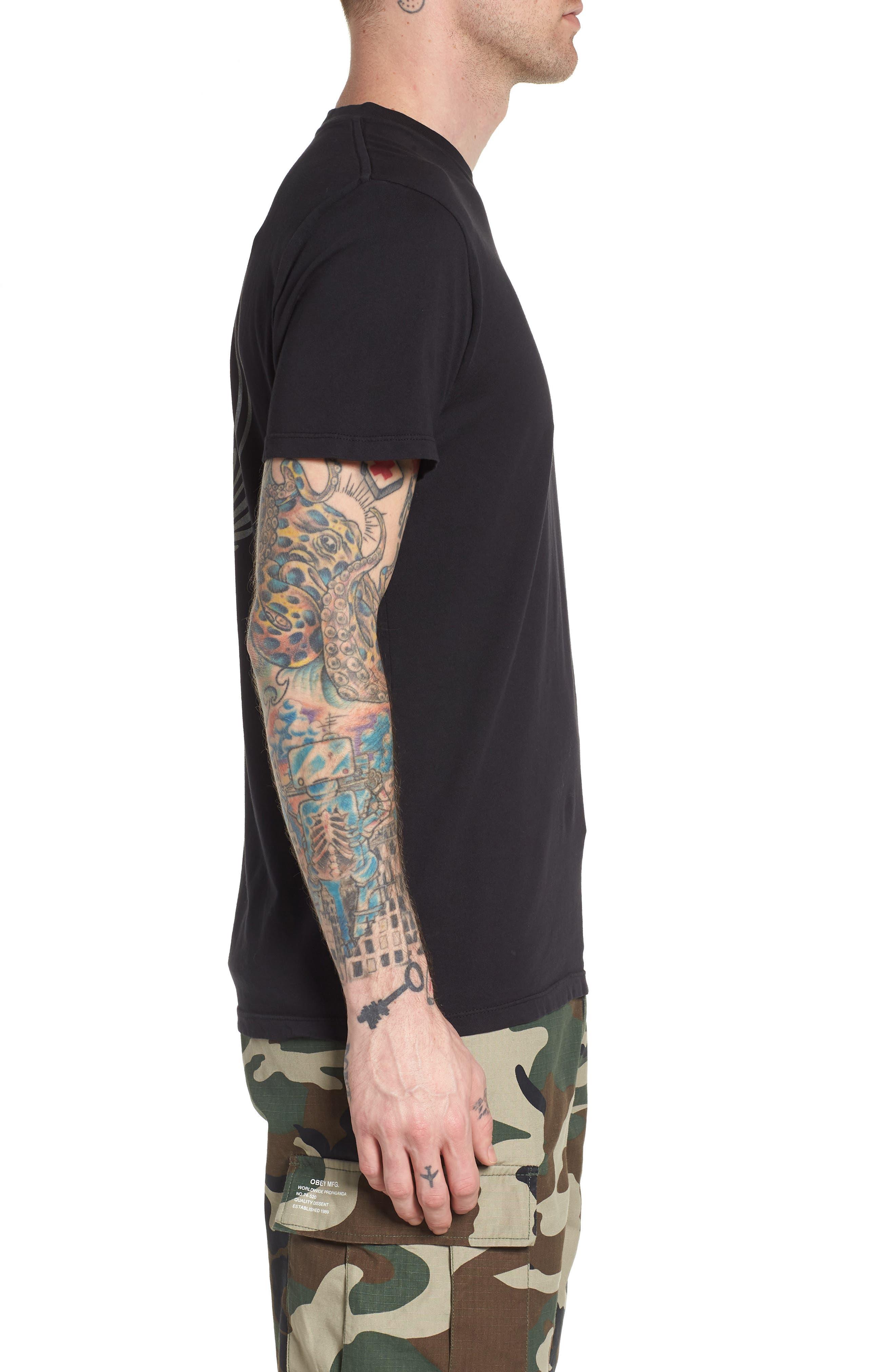 Alternate Image 3  - Obey Skulls & Wings T-Shirt