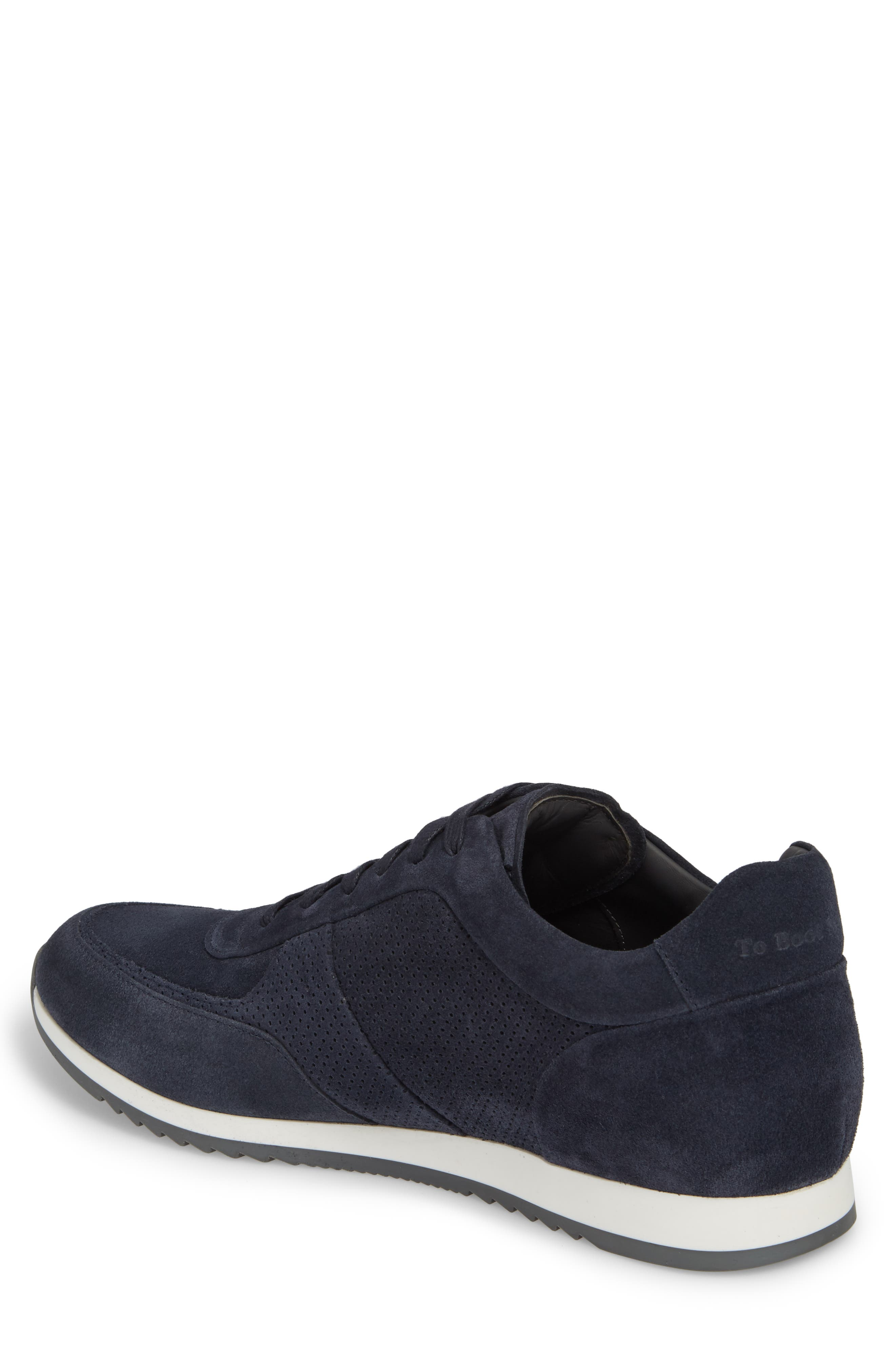 Fordham Low Top Sneaker,                             Alternate thumbnail 2, color,                             Space Blue Suede